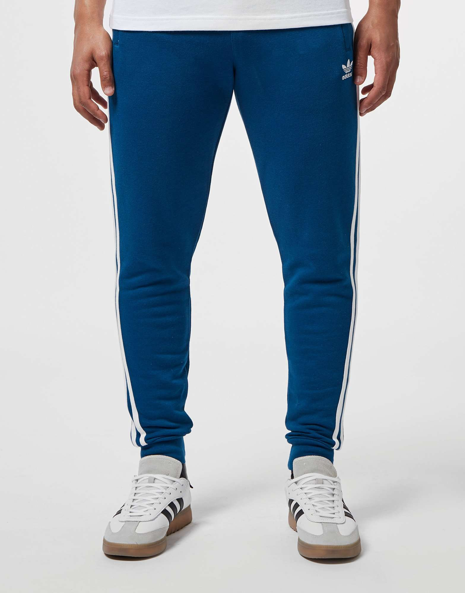 adidas Originals 3-Stripe Cuffed Fleece Pants
