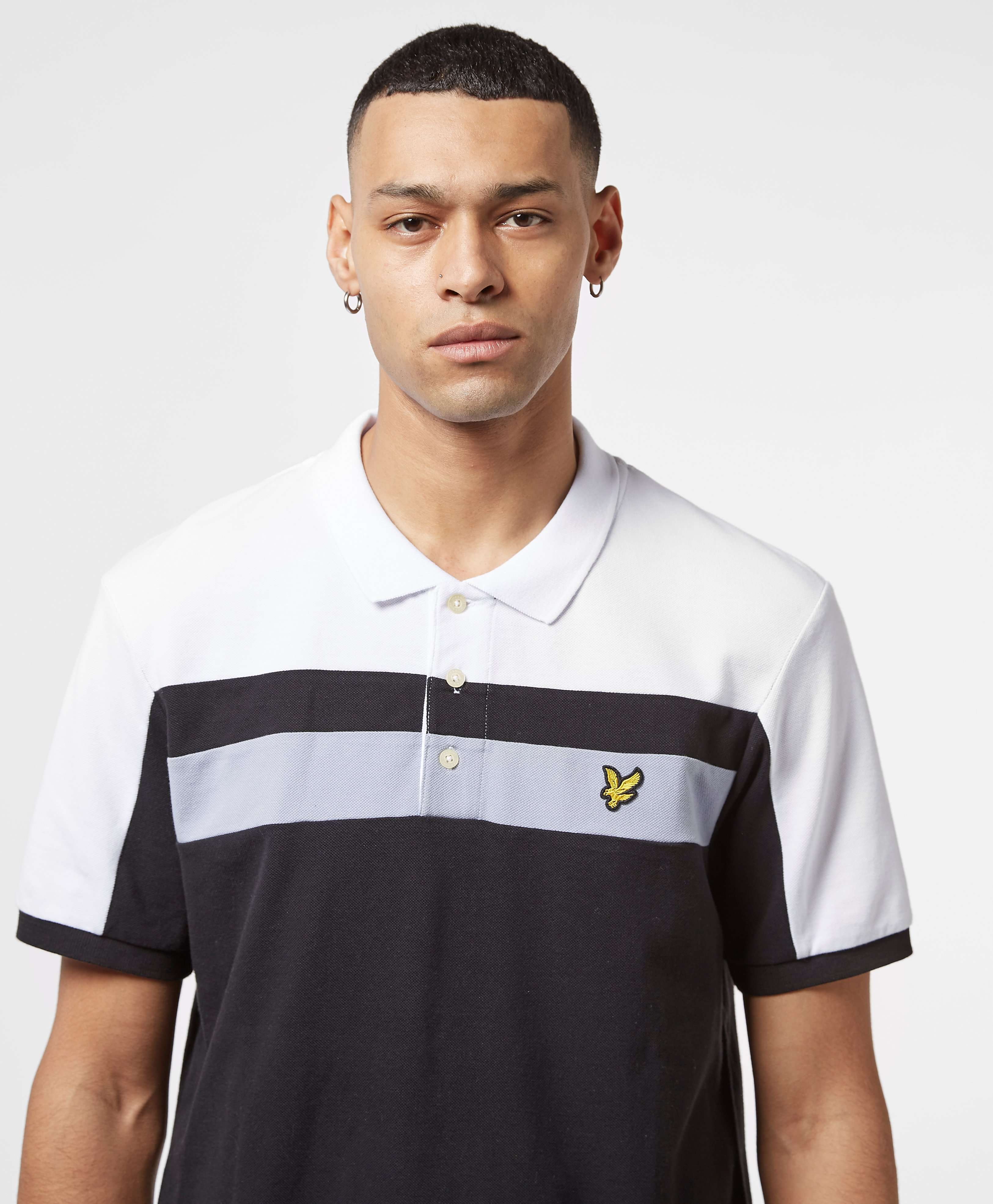 Lyle & Scott Colour Block Short Sleeve Polo Shirt