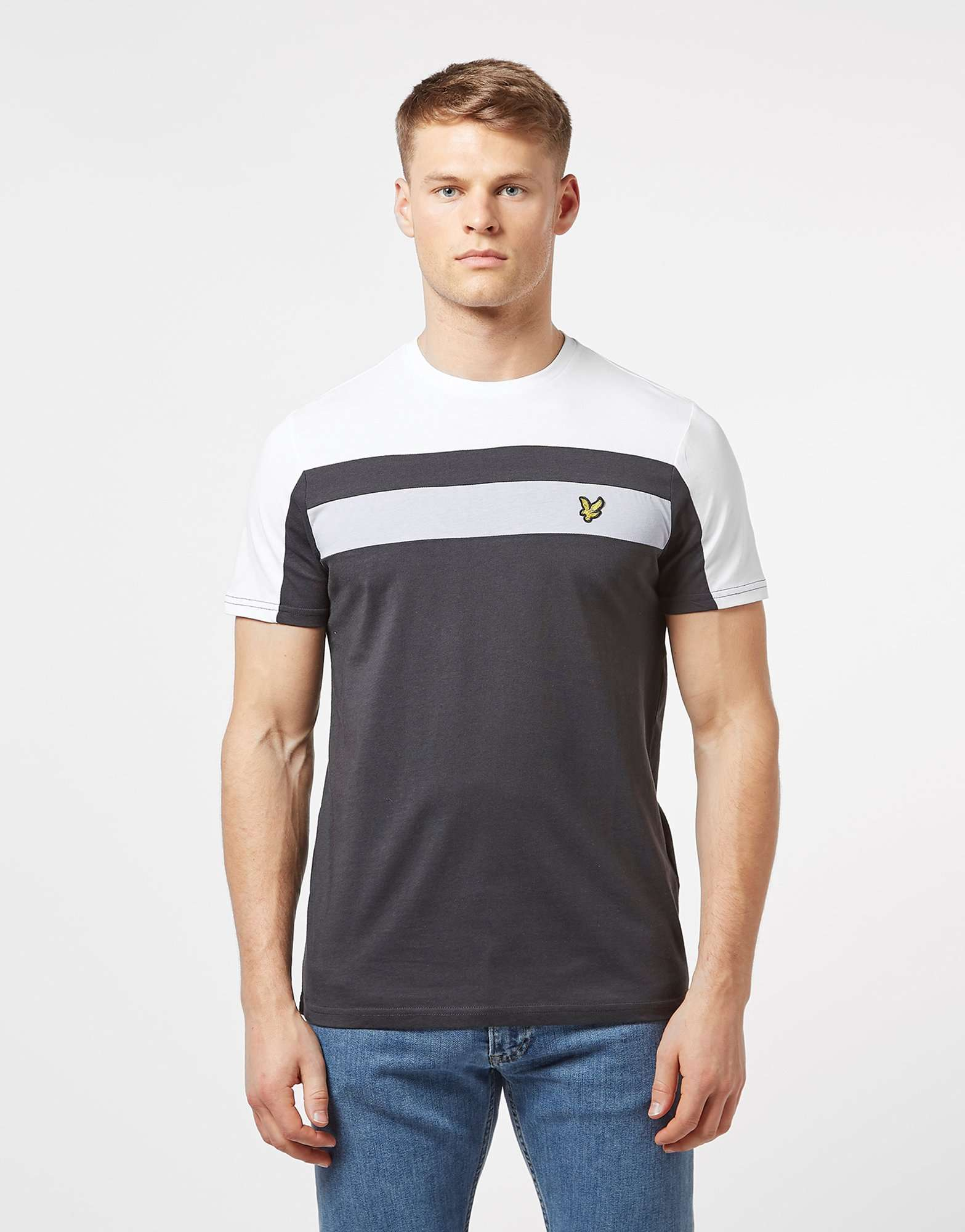 Lyle & Scott Short Sleeve Panel T-Shirt