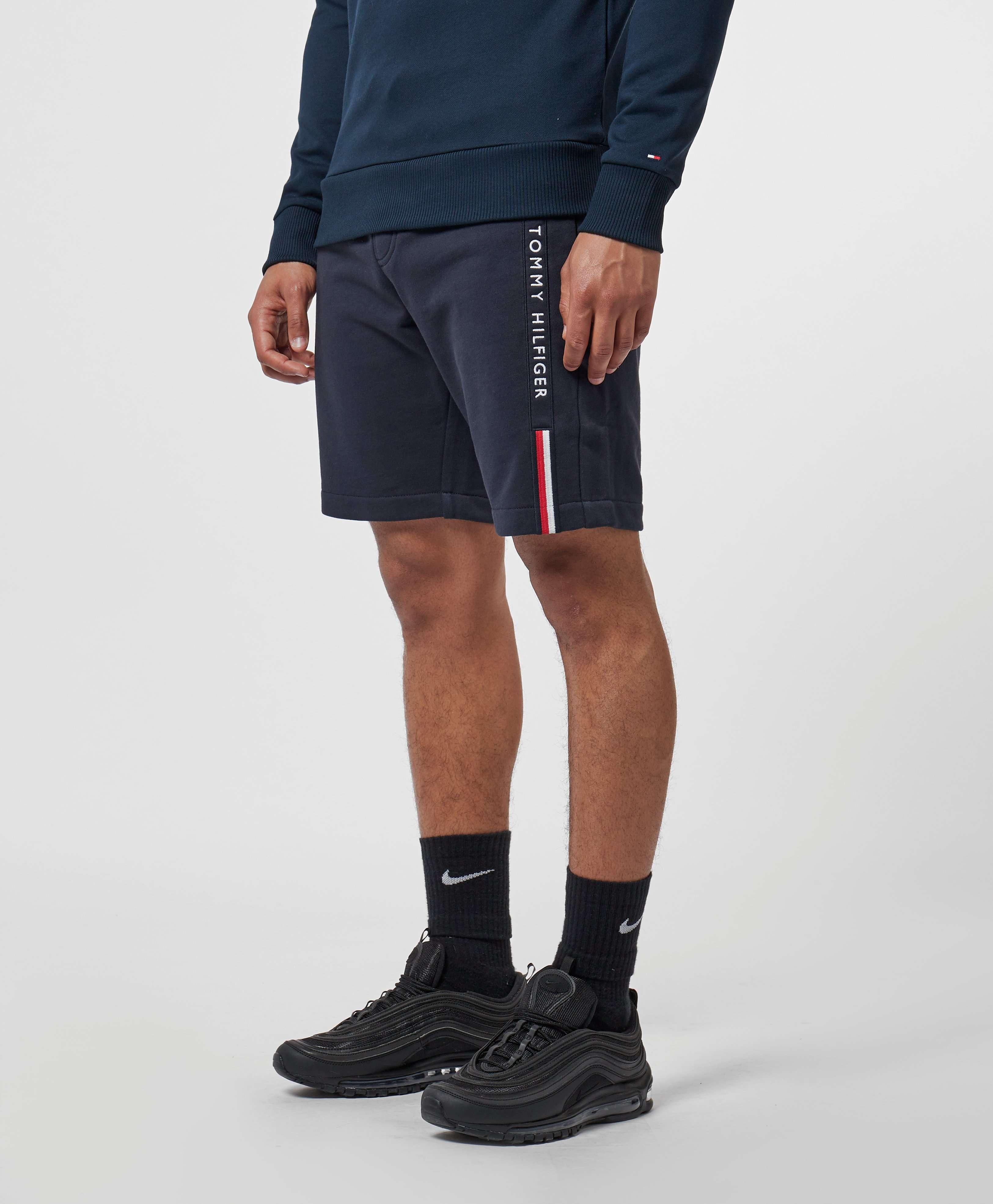 Tommy Hilfiger Logo Stripe Fleece Shorts