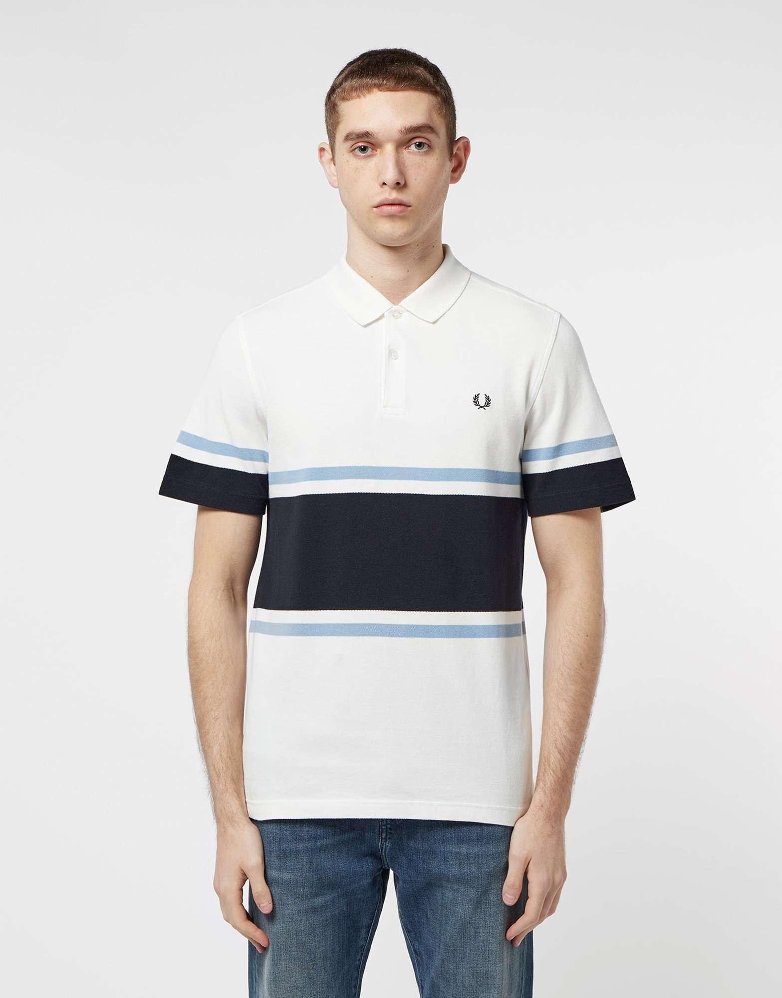 Fred Perry Stripe Pique Polo Shirt