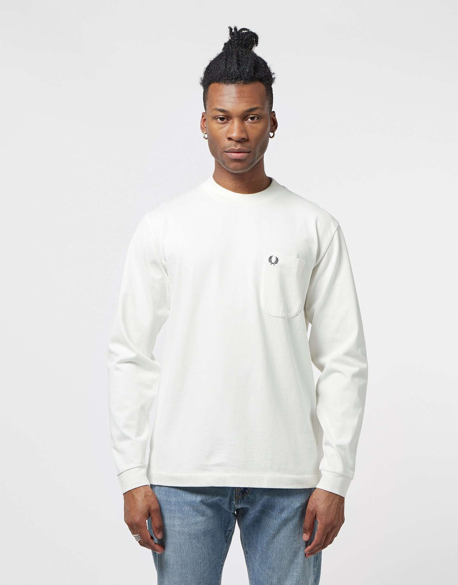Fred Perry High Neck Long Sleeve T-Shirt