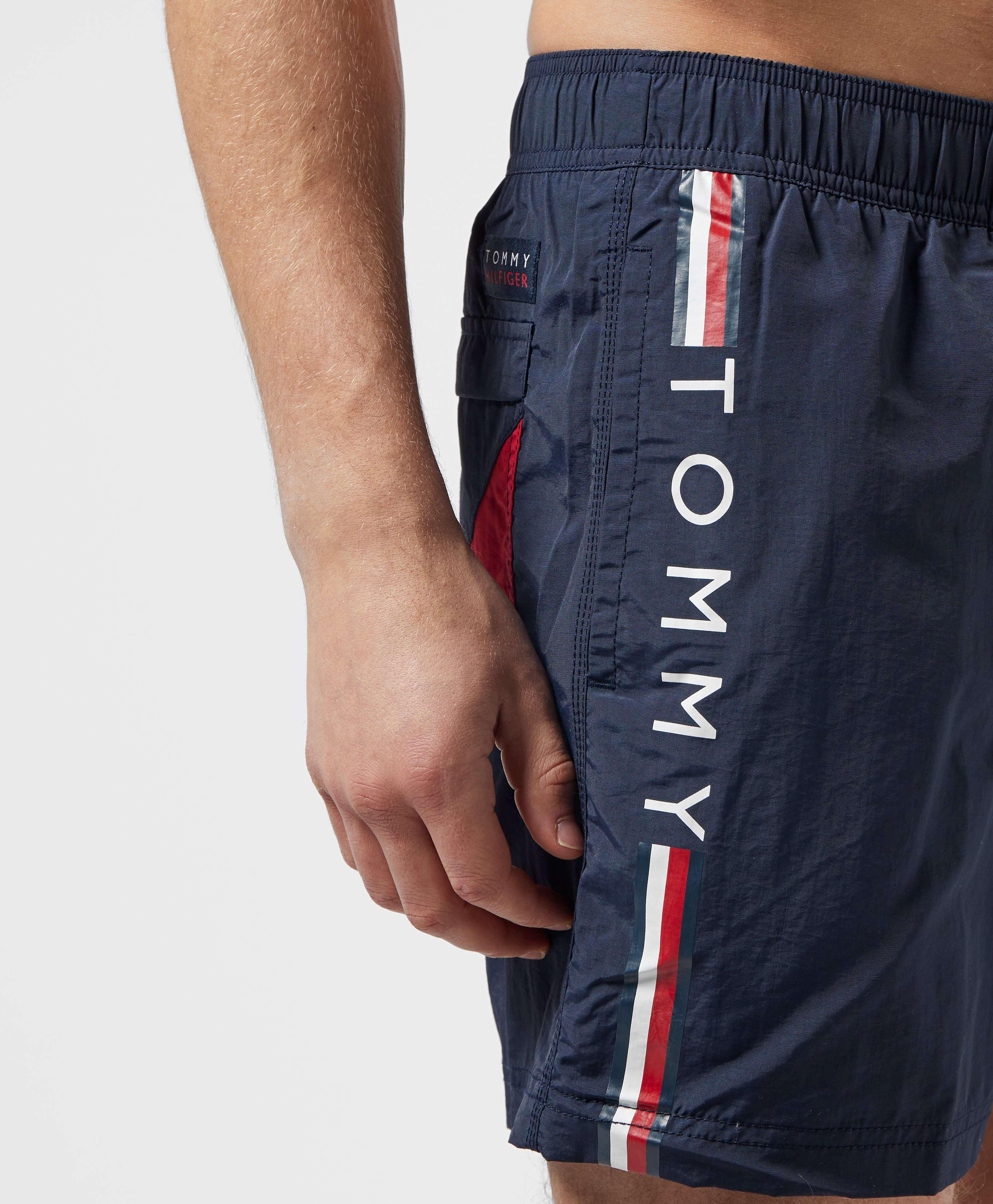 Tommy Hilfiger Logo Side Stripe Swim Shorts