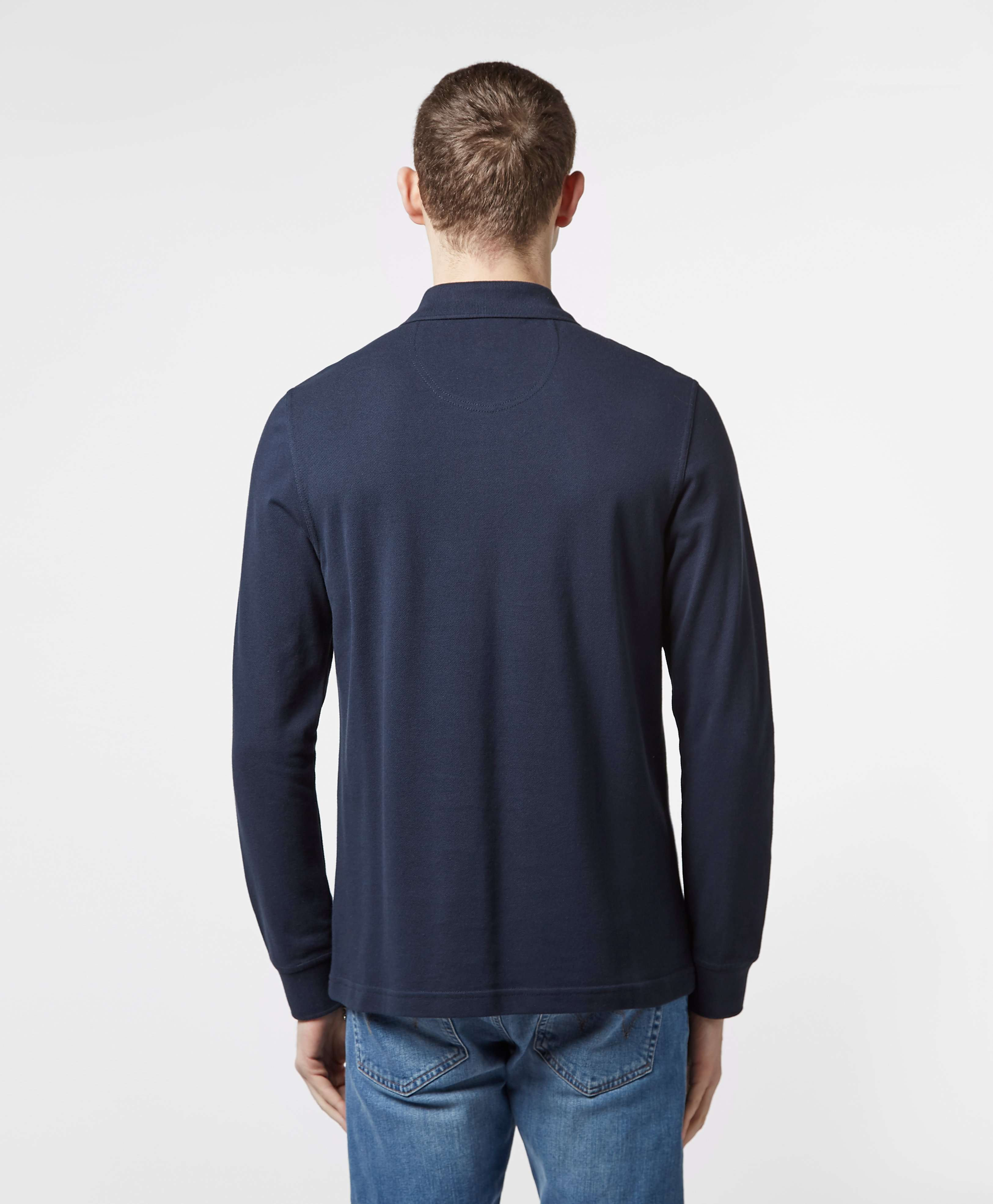Barbour International Small Logo Long Sleeve Polo Shirt