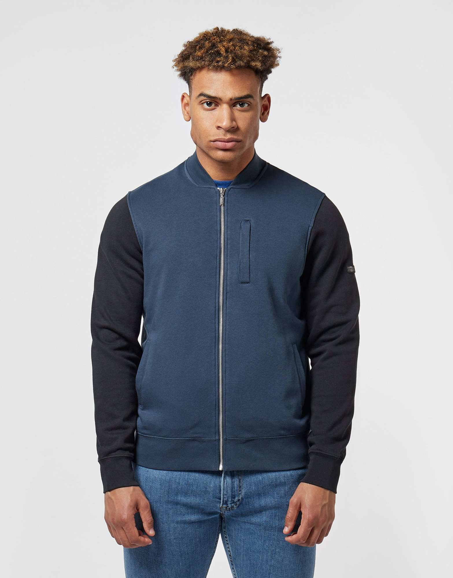 Barbour International Fleece Bomber Jacket