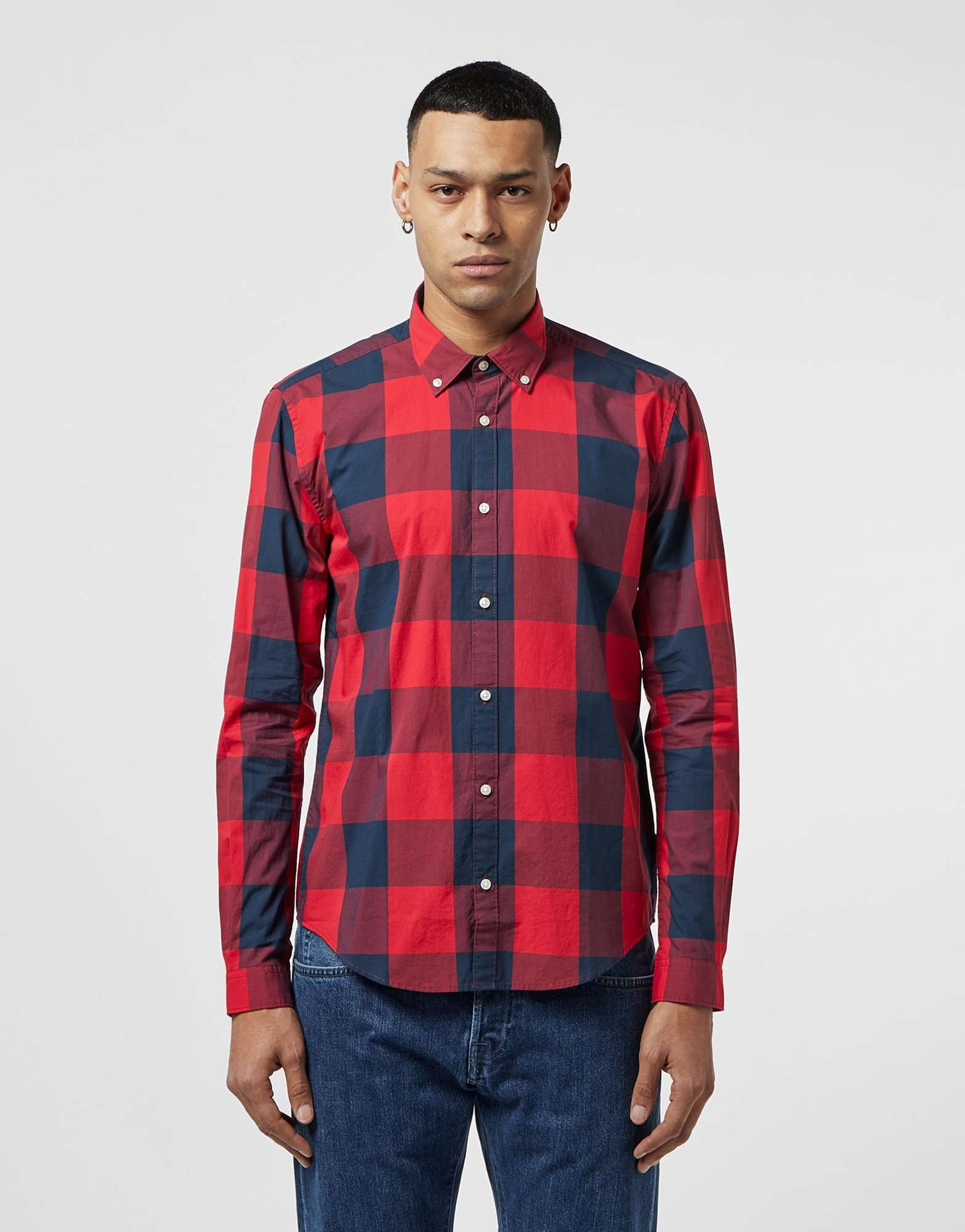 Barbour International Bold Gingham Long Sleeve Shirt