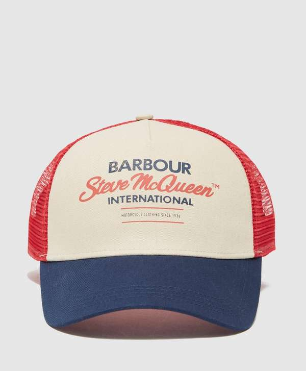Barbour International Steve McQueen Trucker Cap  91589afce63e