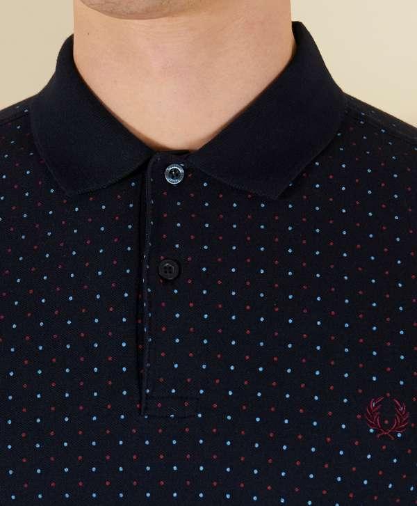 Fred Perry Polka Dot Short Sleeve Polo Shirt Scotts Menswear