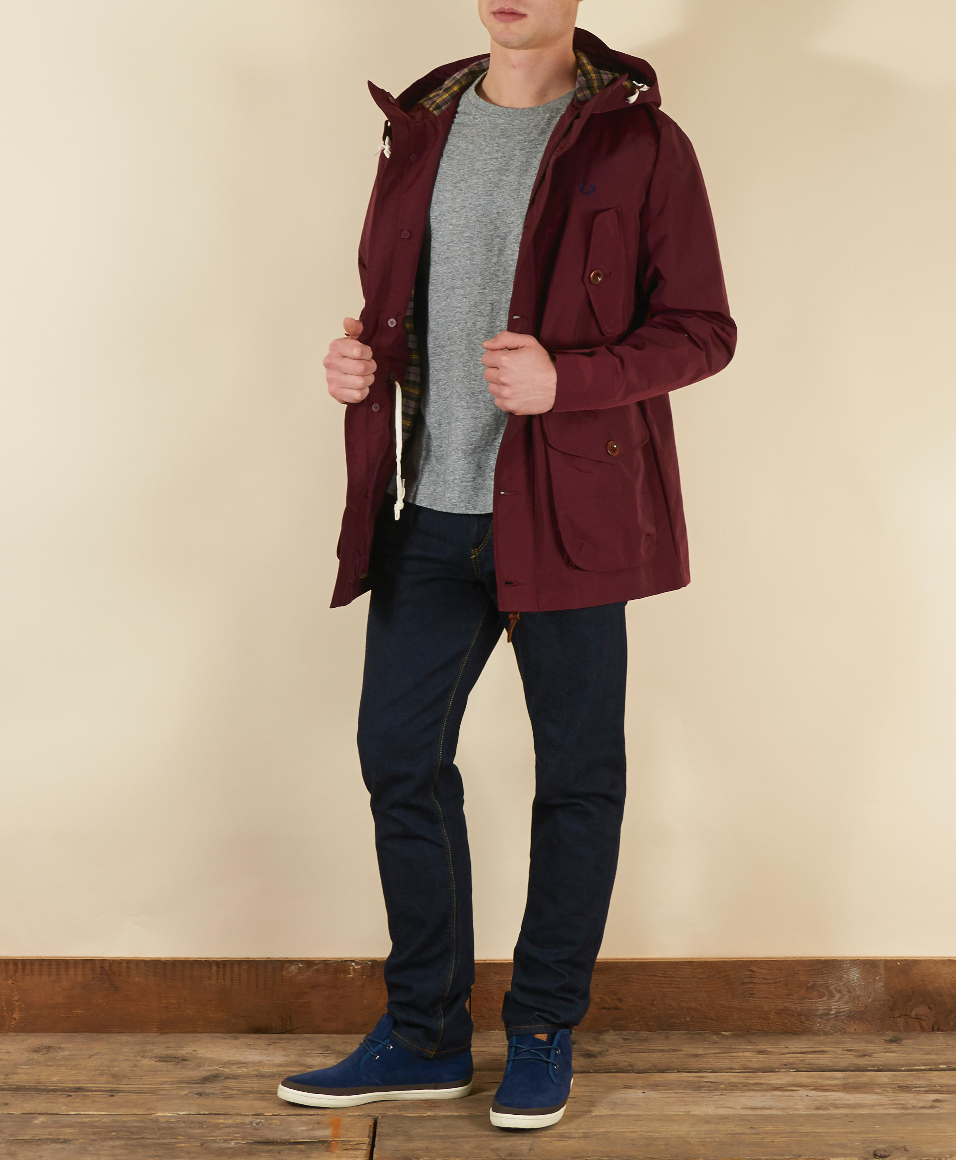 Fred perry parka burgundy