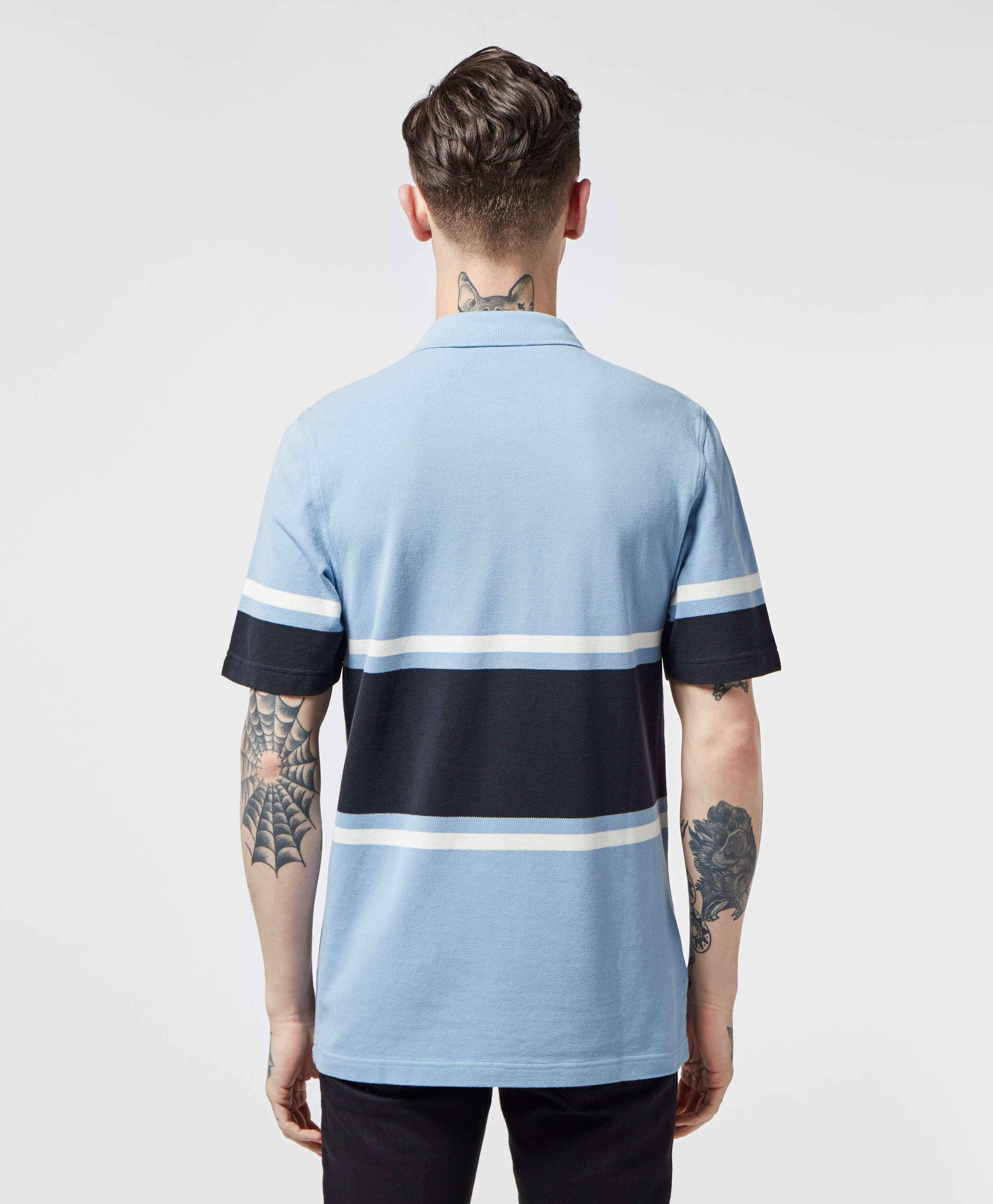 Fred Perry Placement Stripe Short Sleeve Polo Shirt