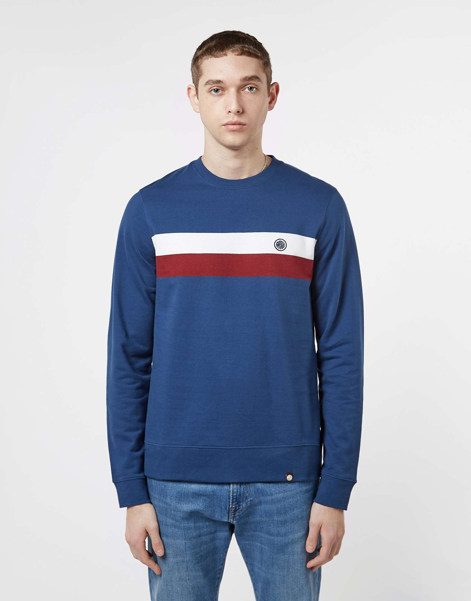 Pretty Green Chest Stripe Sweatshirt