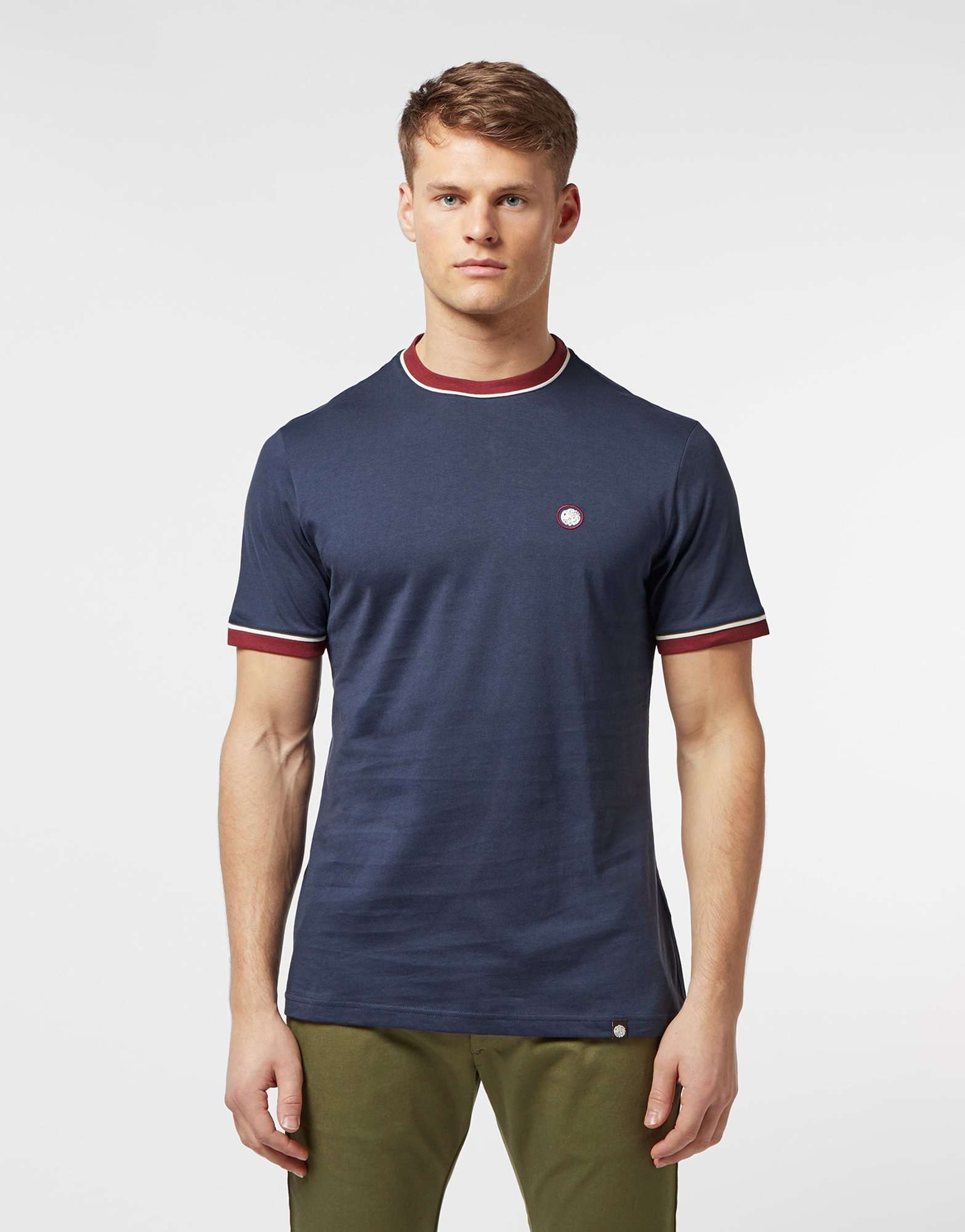 Pretty Green Ollier Ringer Short Sleeve T-Shirt