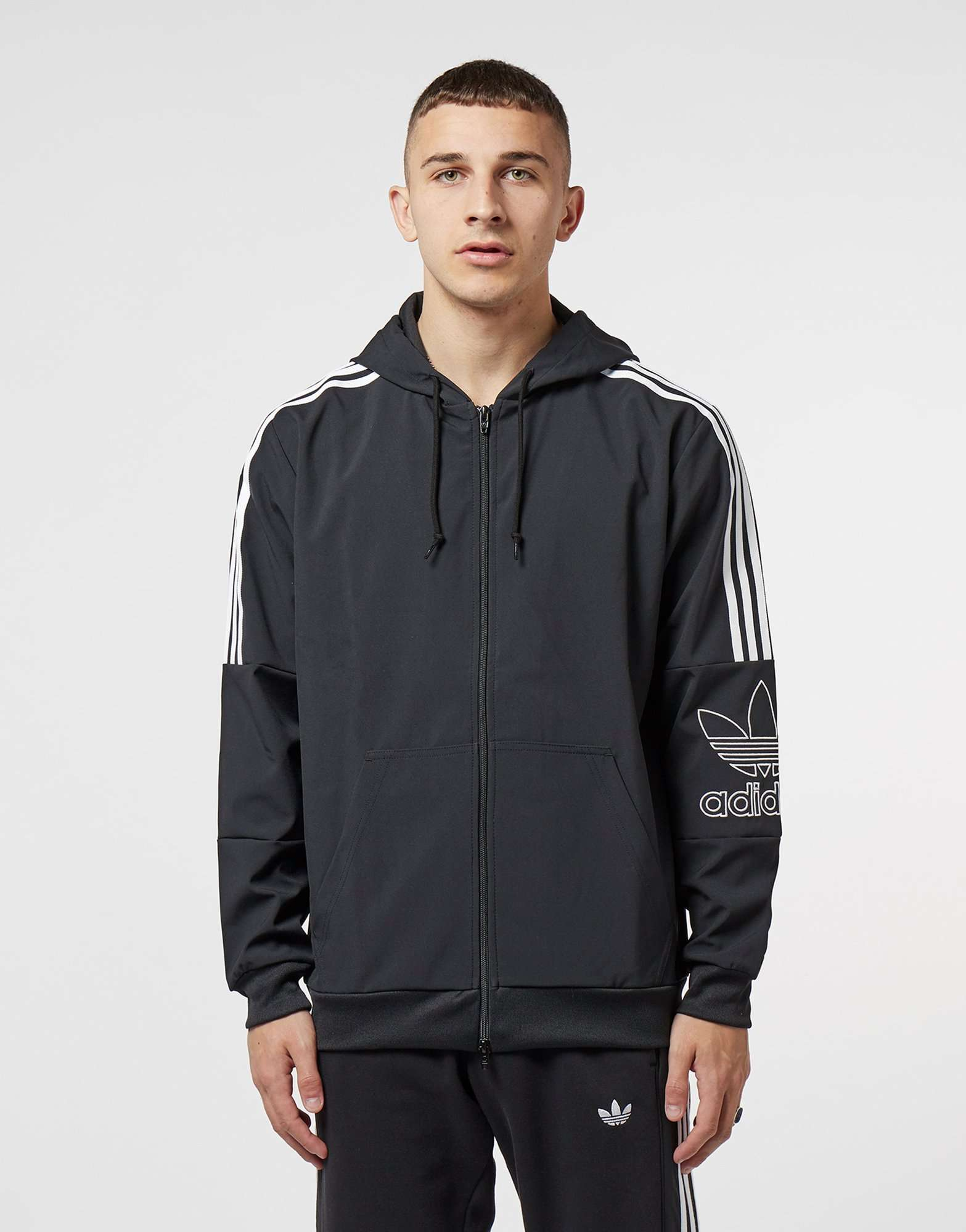 adidas Originals Trefoil Outline 2.0 Full Zip Hoodie