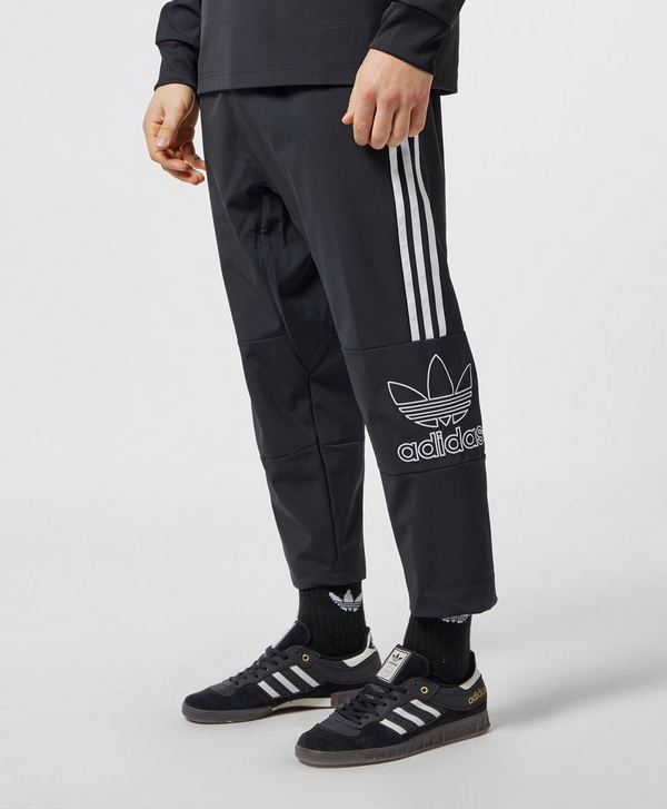 ea266480906e adidas Originals Trefoil Outline Cropped Track Pants