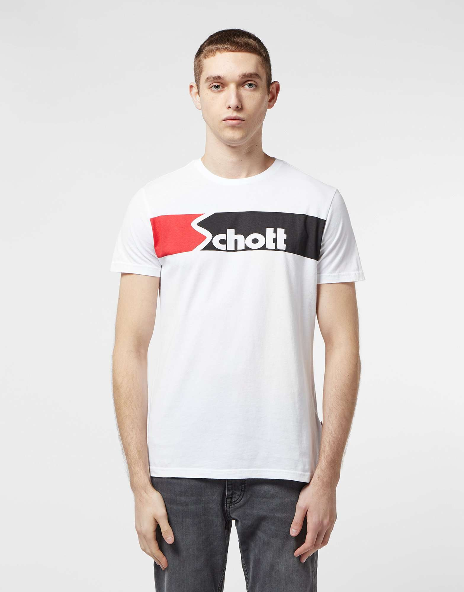 Schott Urban Logo Short Sleeve T-Shirt