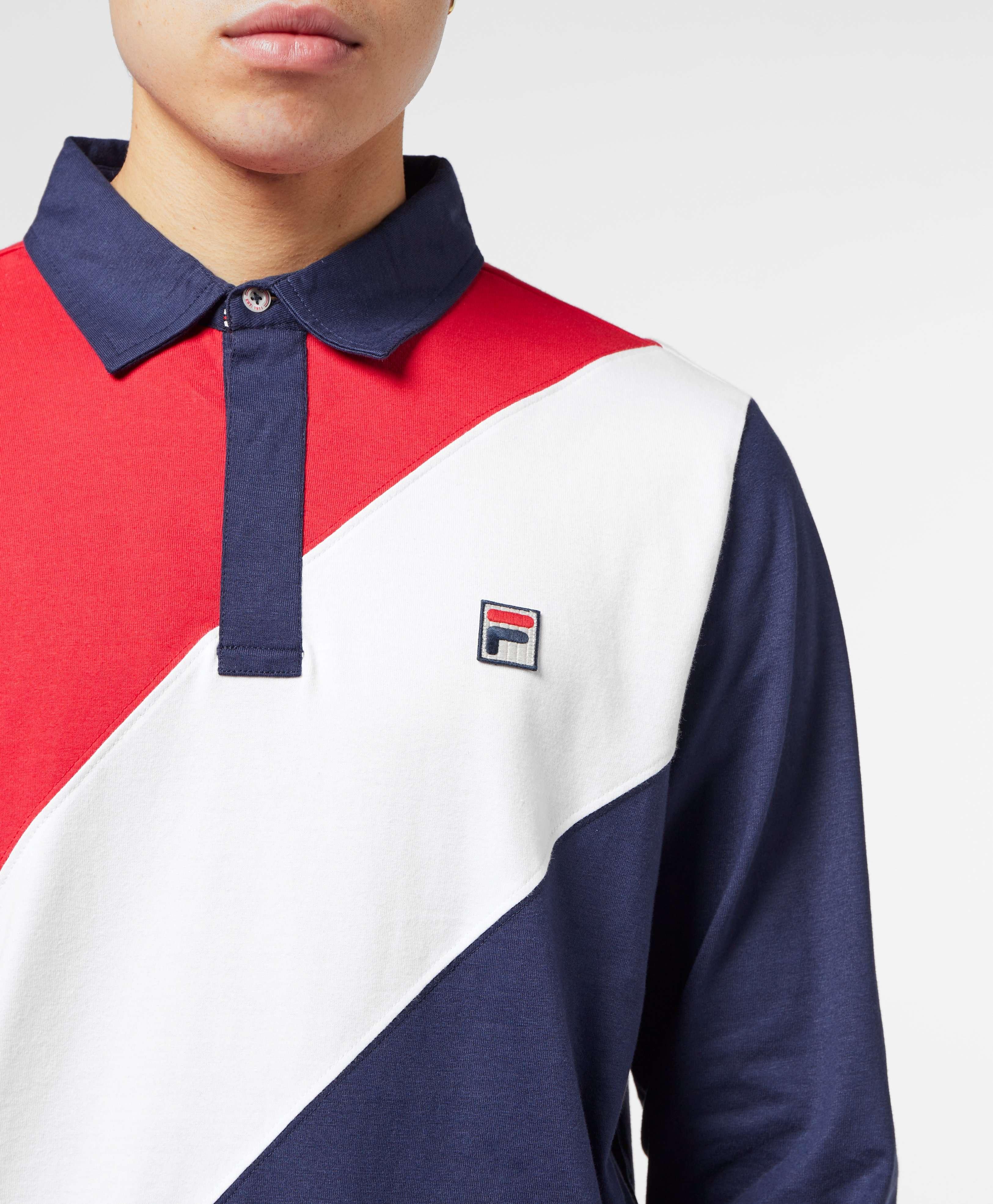 Fila Long Sleeve Rugby Polo Shirt
