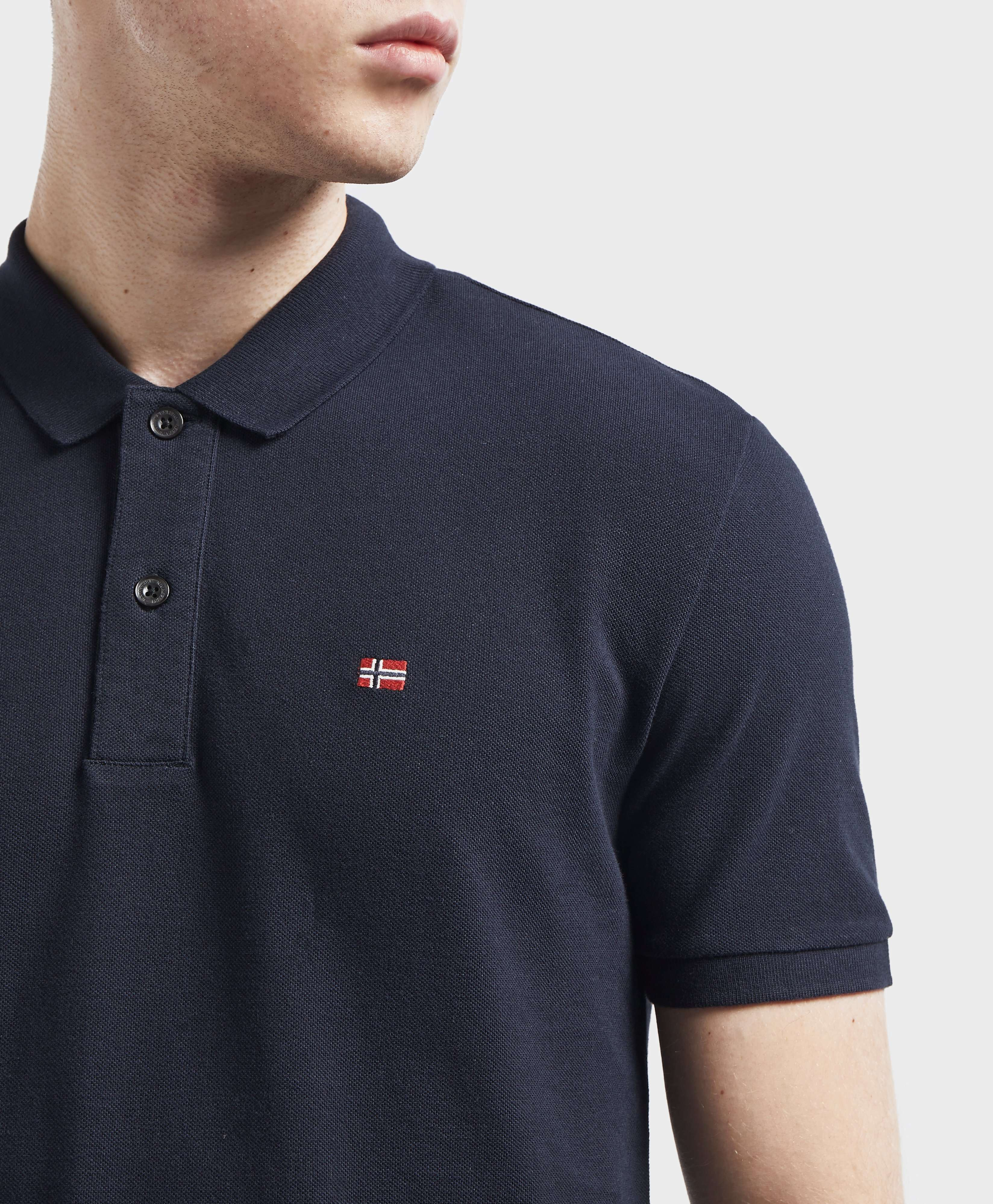 Napapijri Small Flag Short Sleeve Polo Shirt