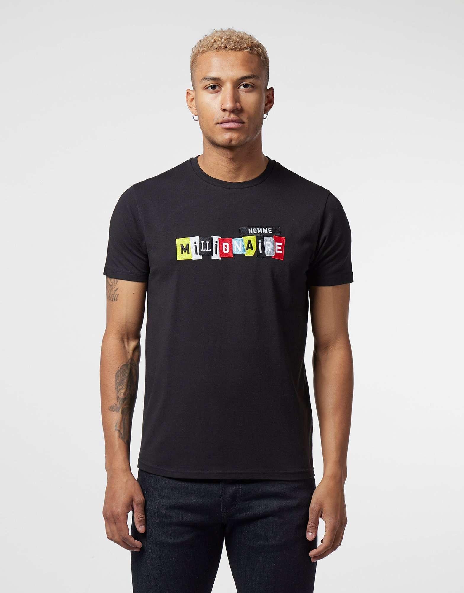Millionaire Homme Patch Logo Short Sleeve T-Shirt