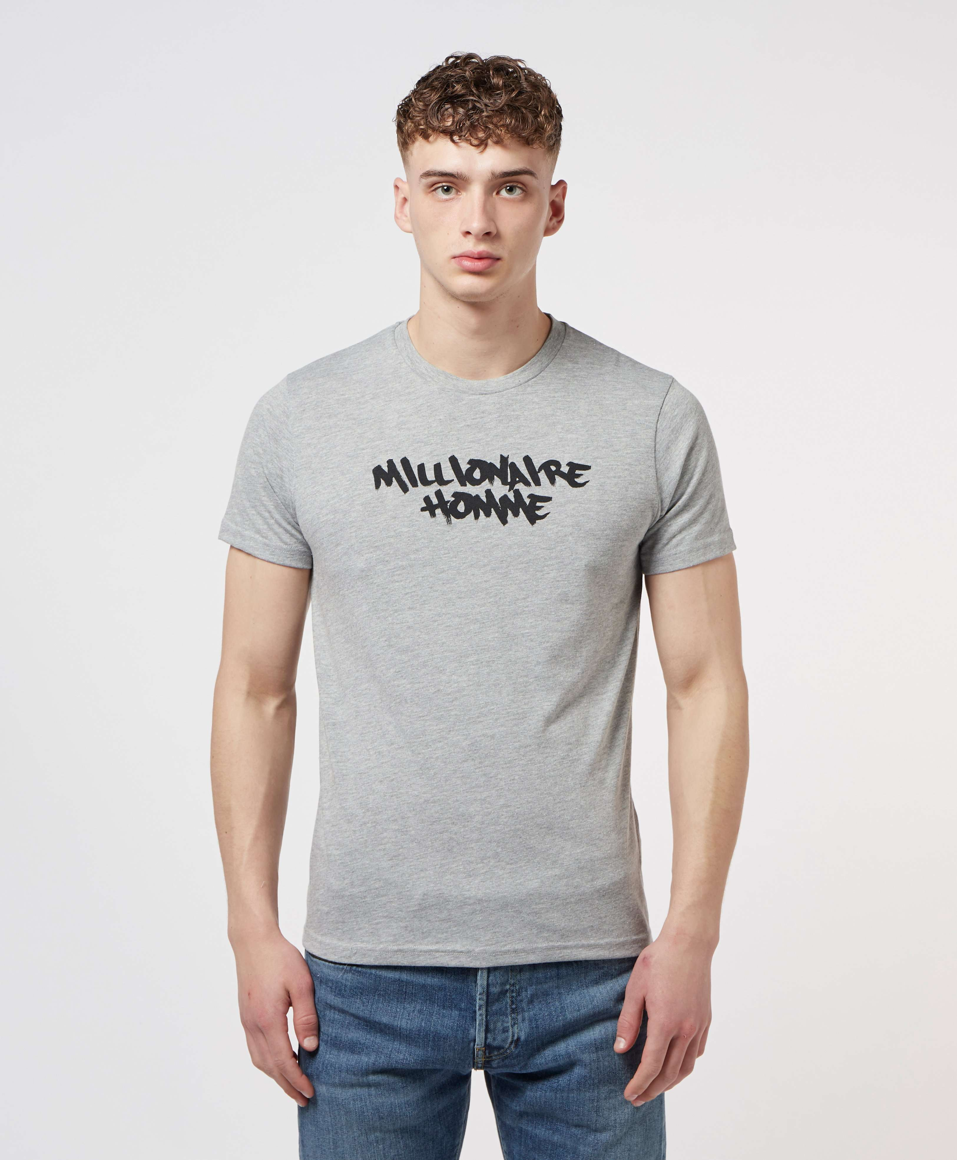 Millionaire Homme Paint Logo Short Sleeve T-Shirt - Online Exclusive
