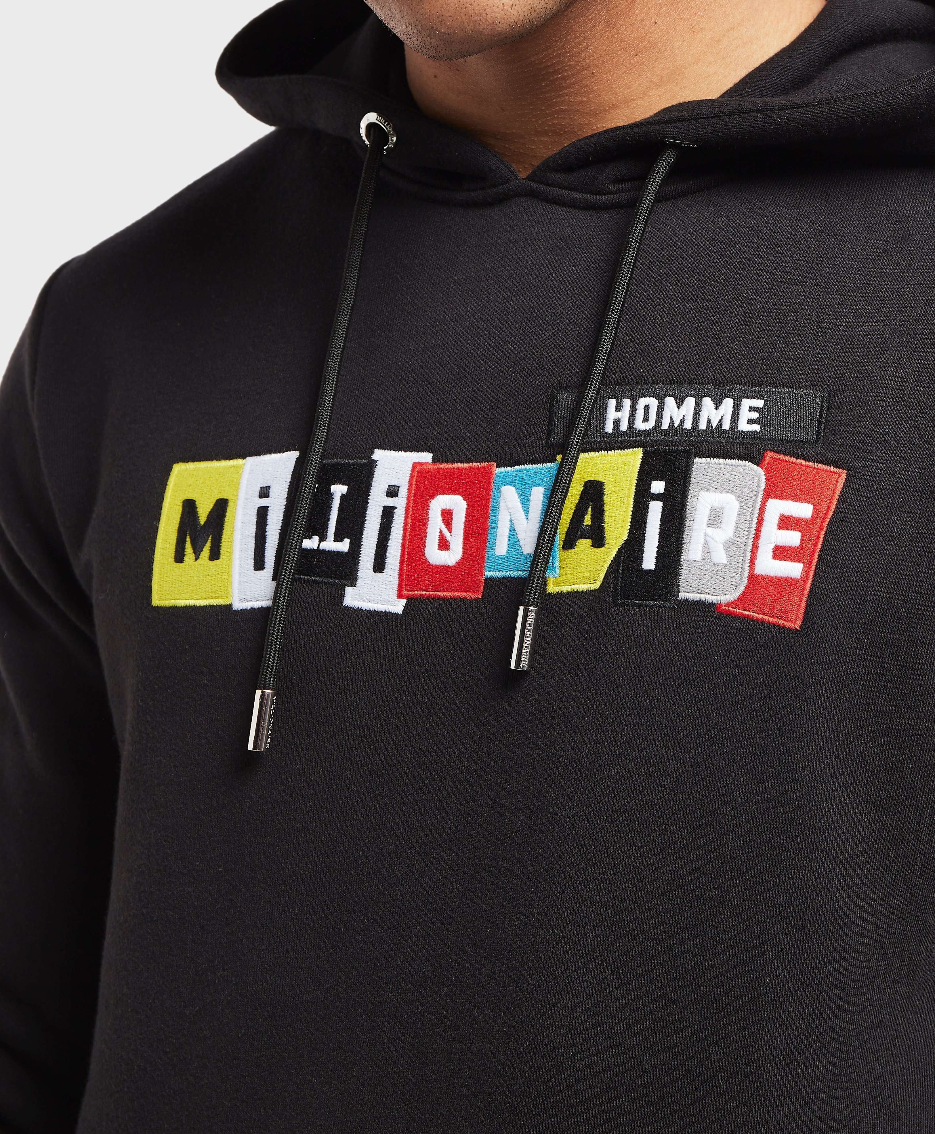 Millionaire Homme Patch Logo Overhead Hoodie - Online Exclusive