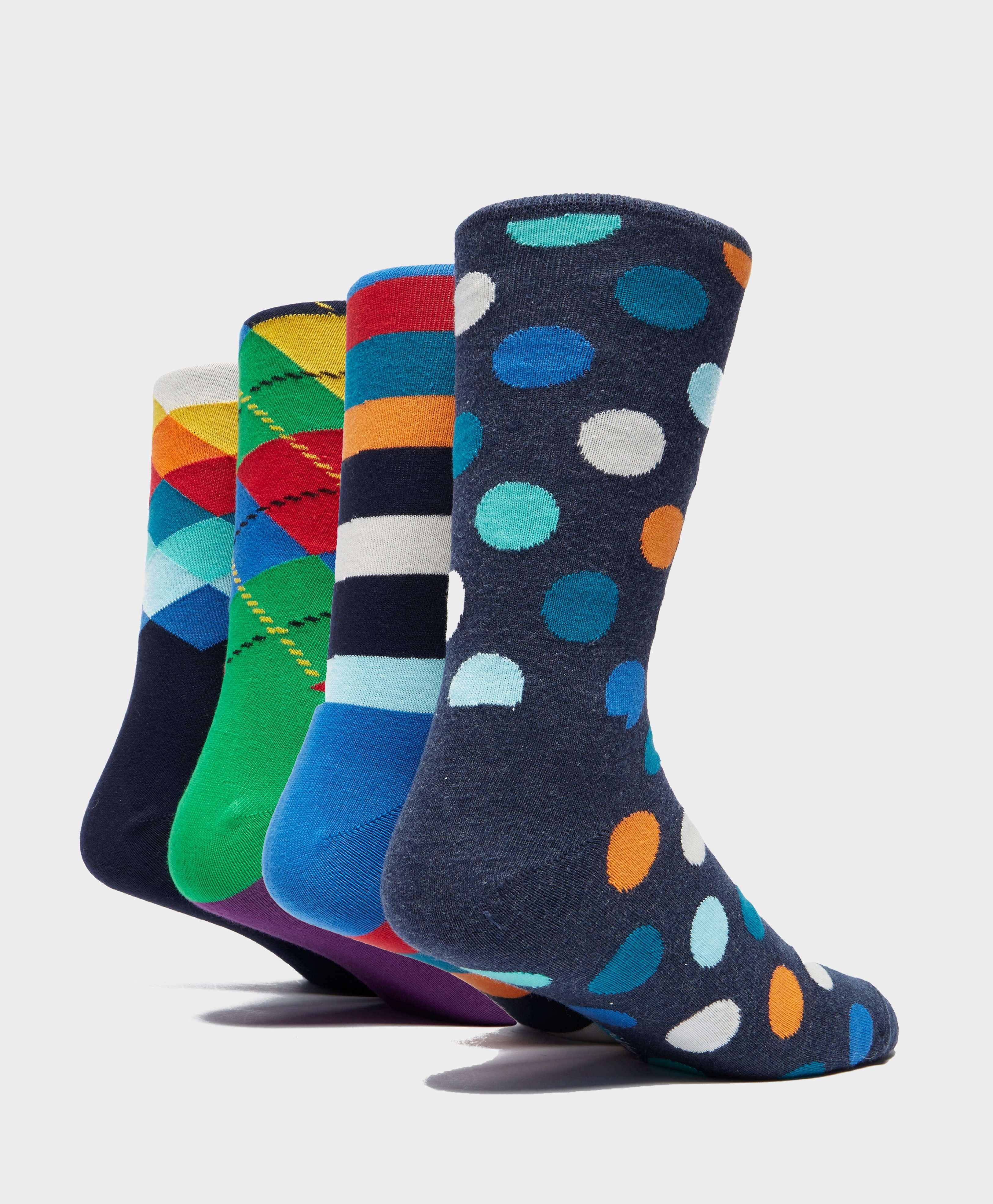 Happy Socks 4-Pack Patterned Socks