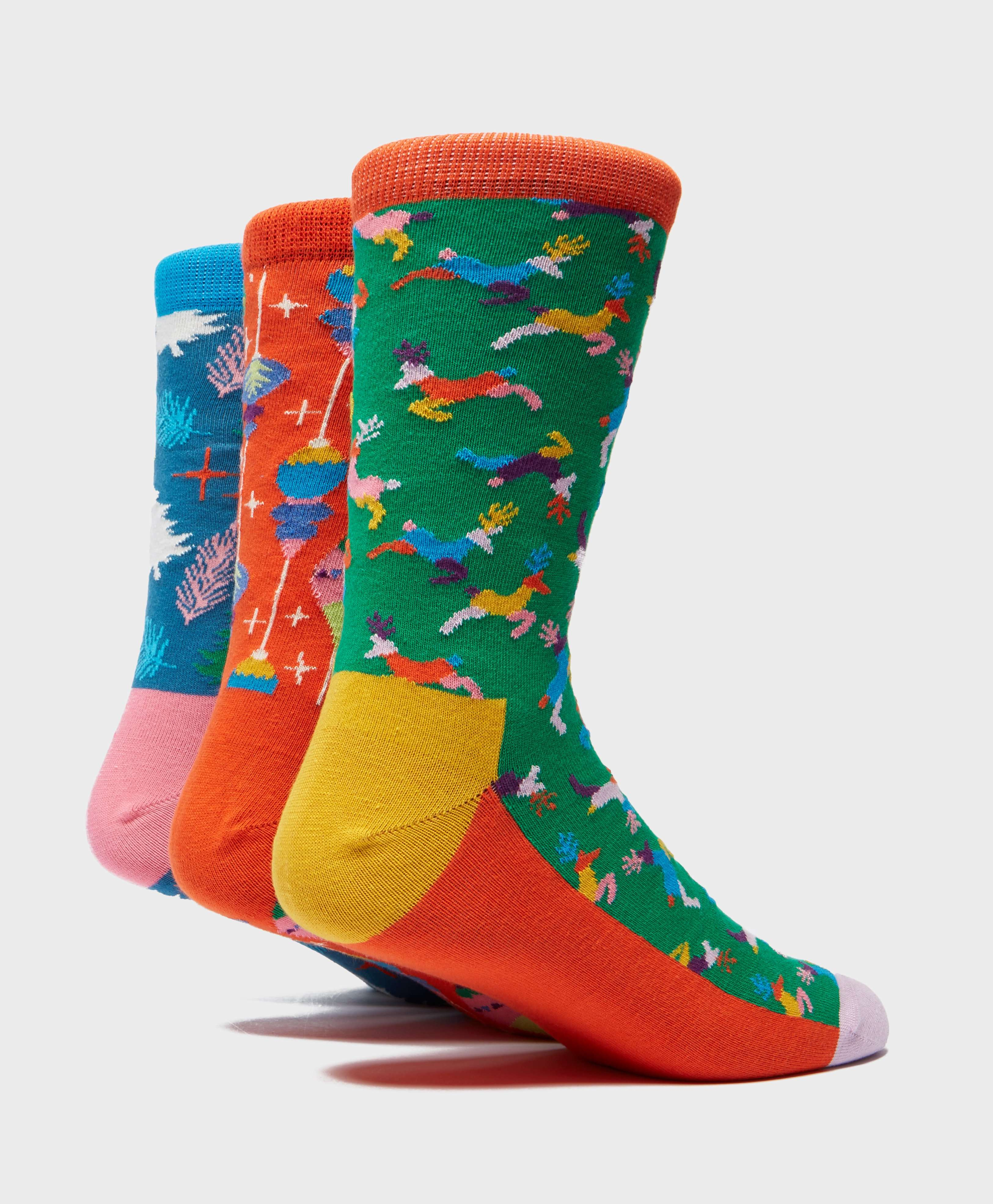 Happy Socks 3-Pack Christmas Music Box Socks