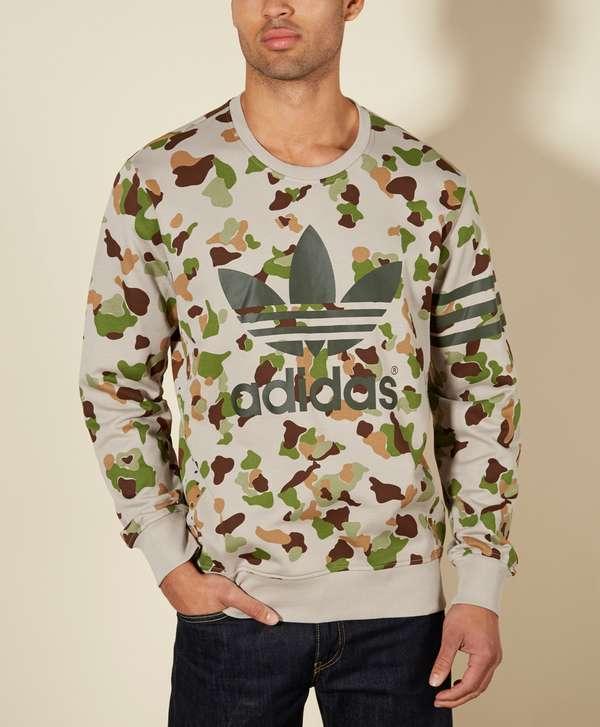 b09e2cc96ac83 adidas Originals Camo Crew Neck Sweat   scotts Menswear
