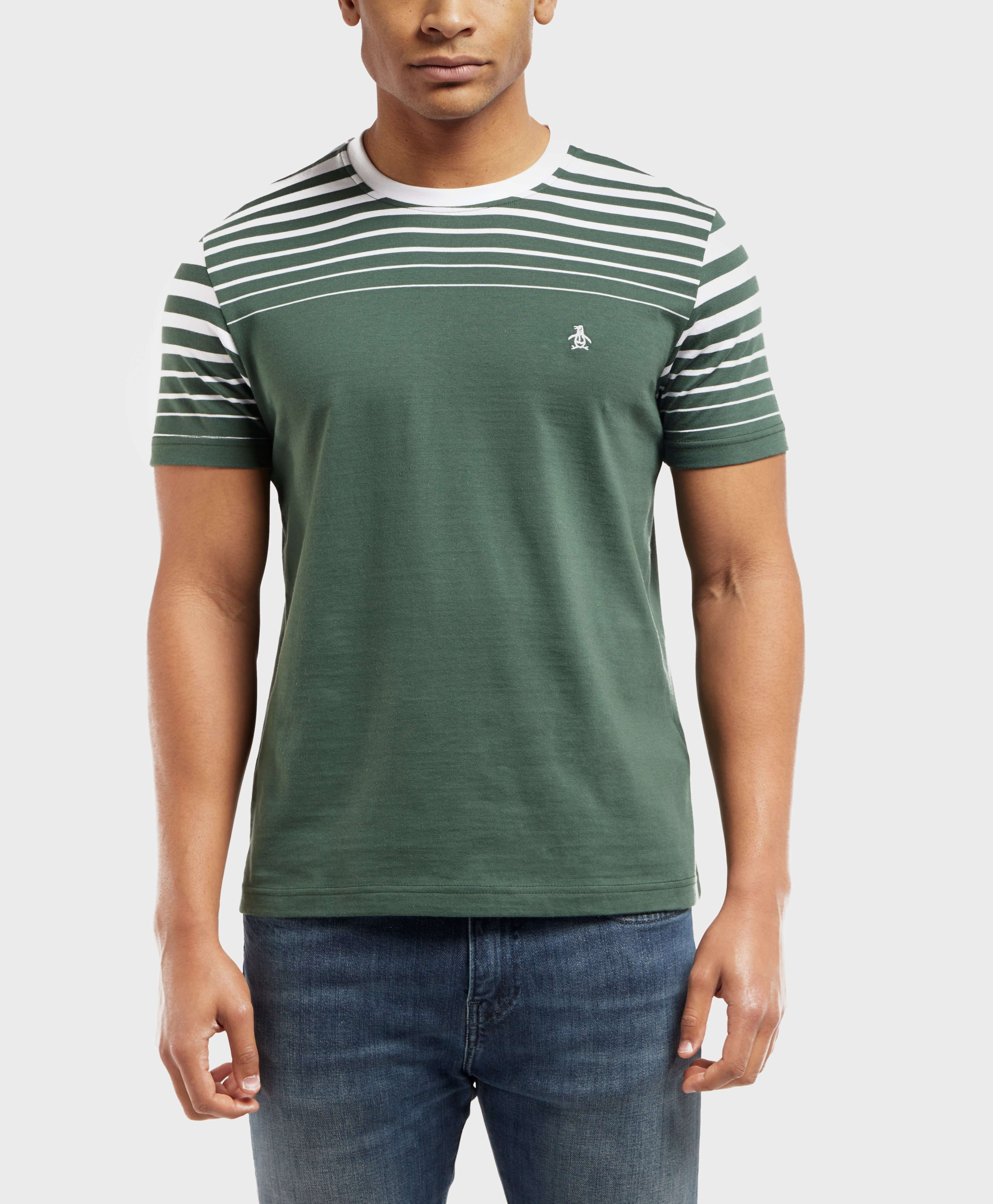 Original Penguin Split Stripe Short Sleeve T-Shirt