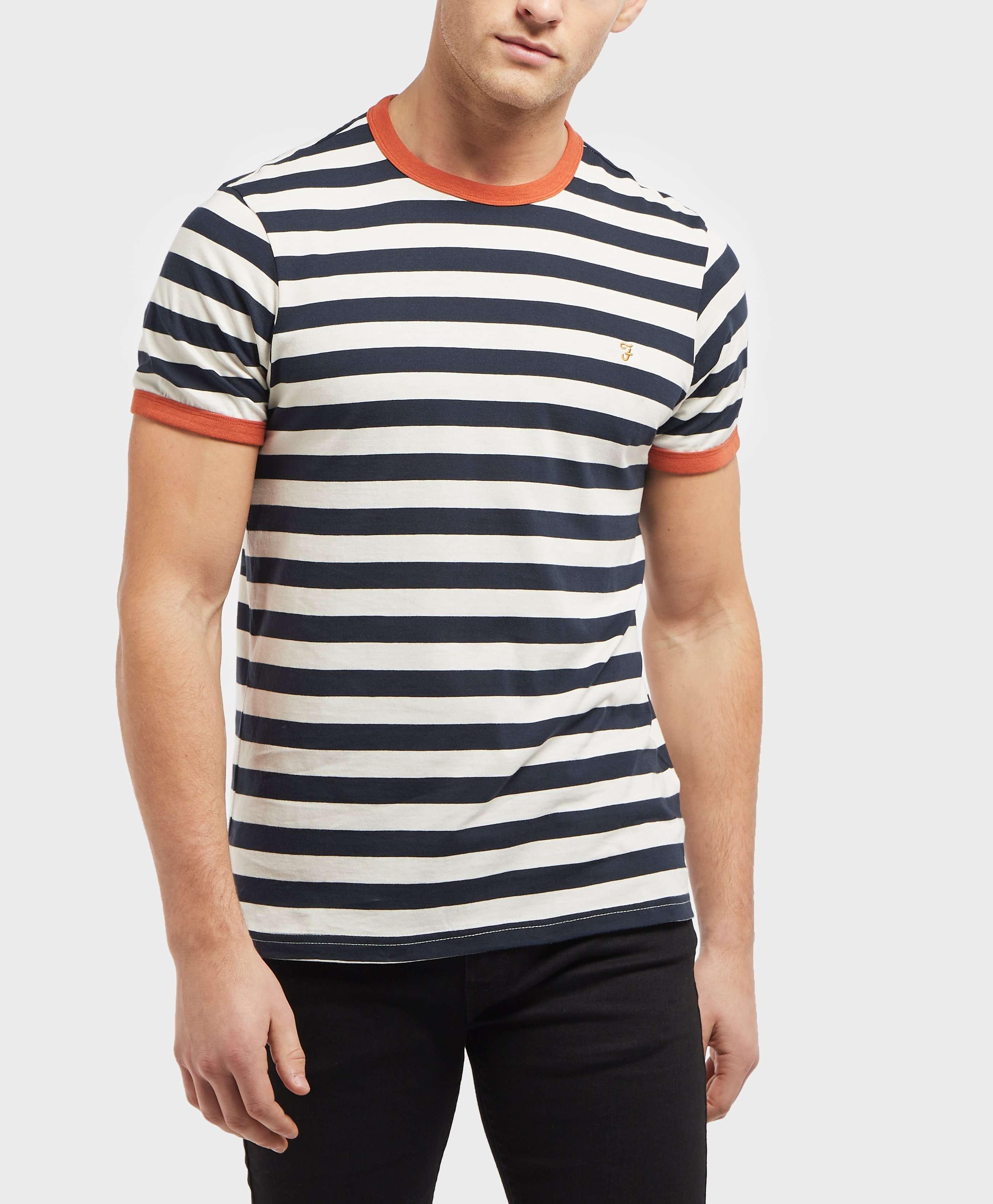 Farah Short Sleeve Stripe T-Shirt - Online Exclusive