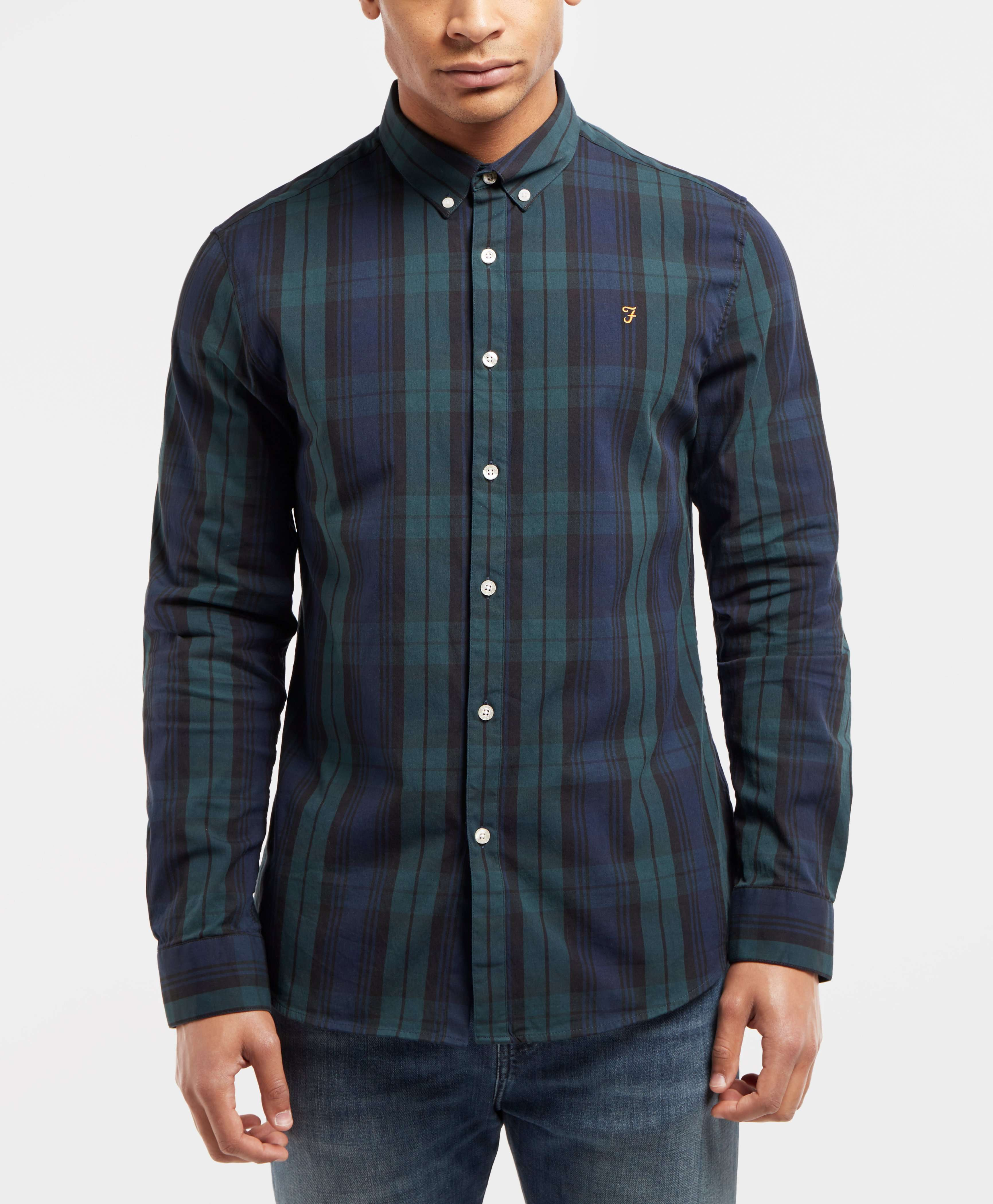 Farah Blackwatch Long Sleeve Check Shirt - Exclusive