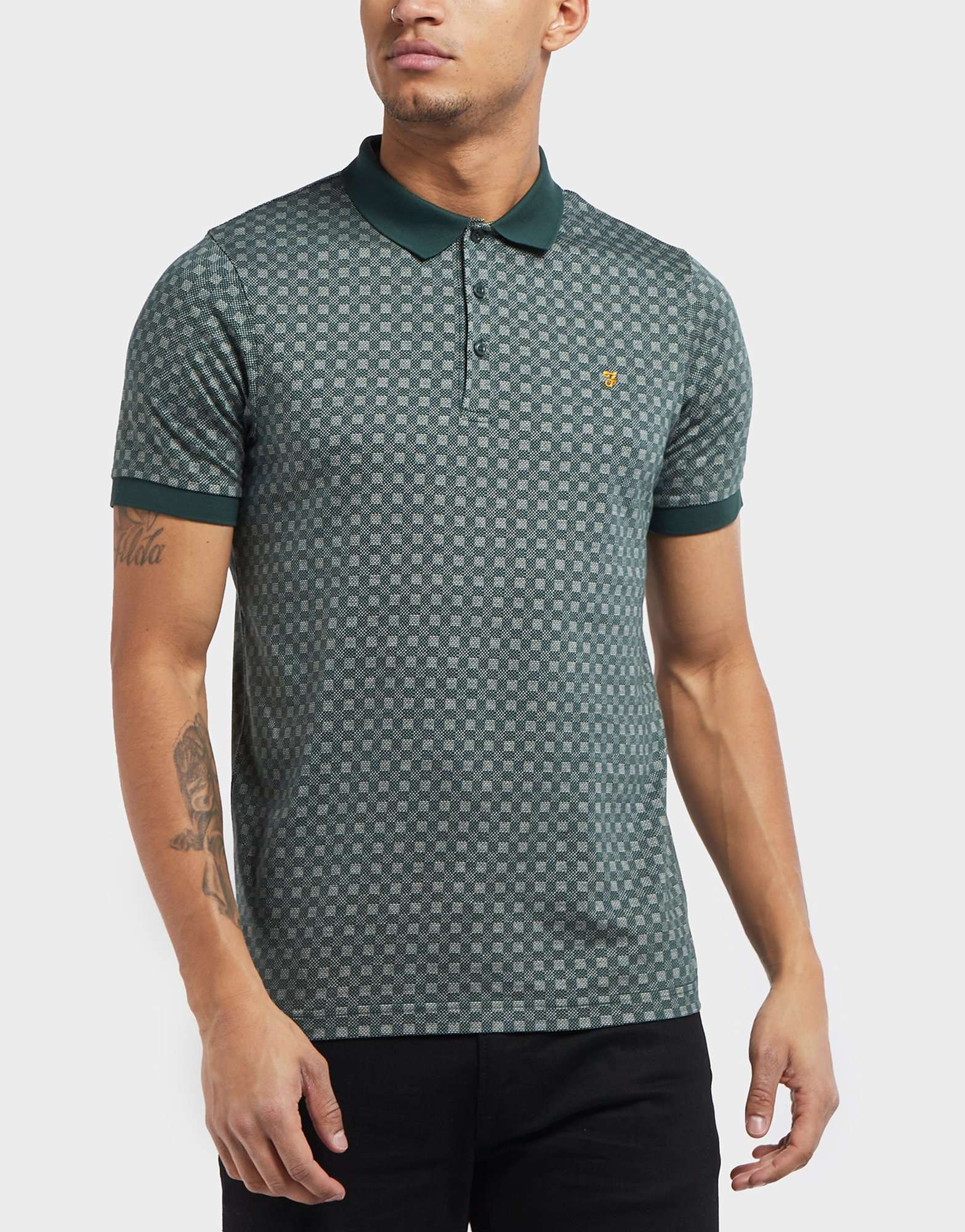Farah Short Sleeve Print Polo Shirt - Online Exclusive