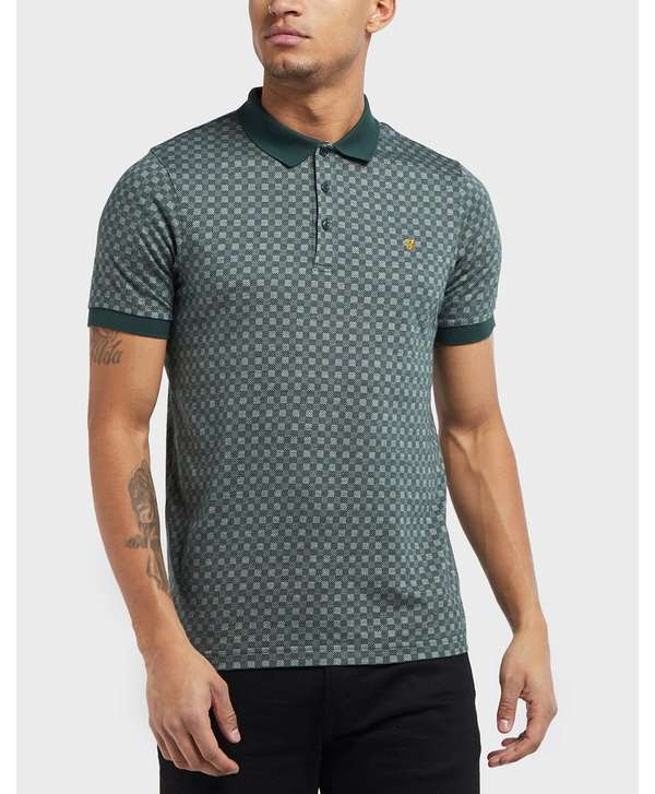Farah Short Sleeve Print Polo Shirt - Online Exclusive  ee001422c80d