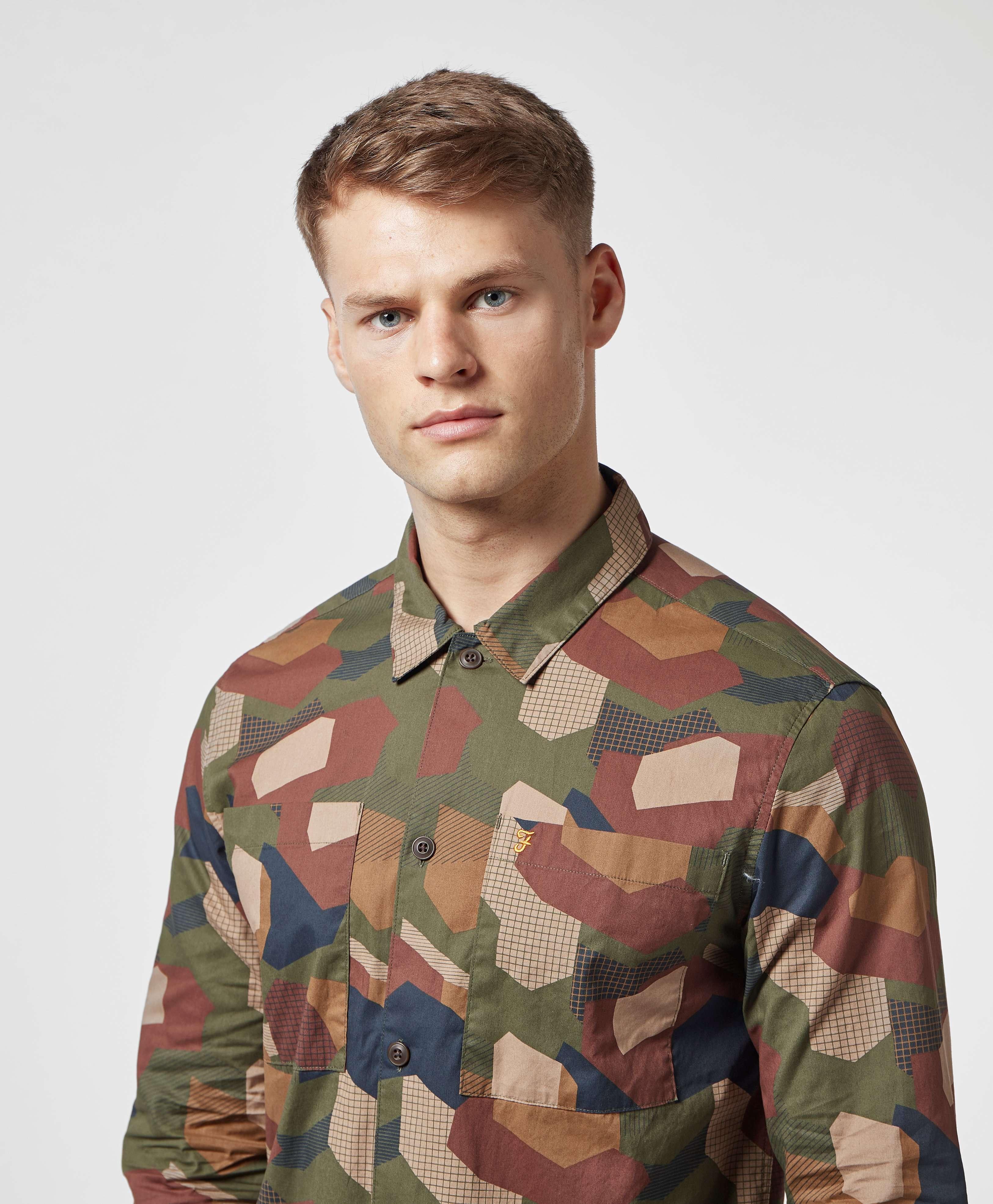 Farah Camo Long Sleeve Overshirt - Online Exclusive