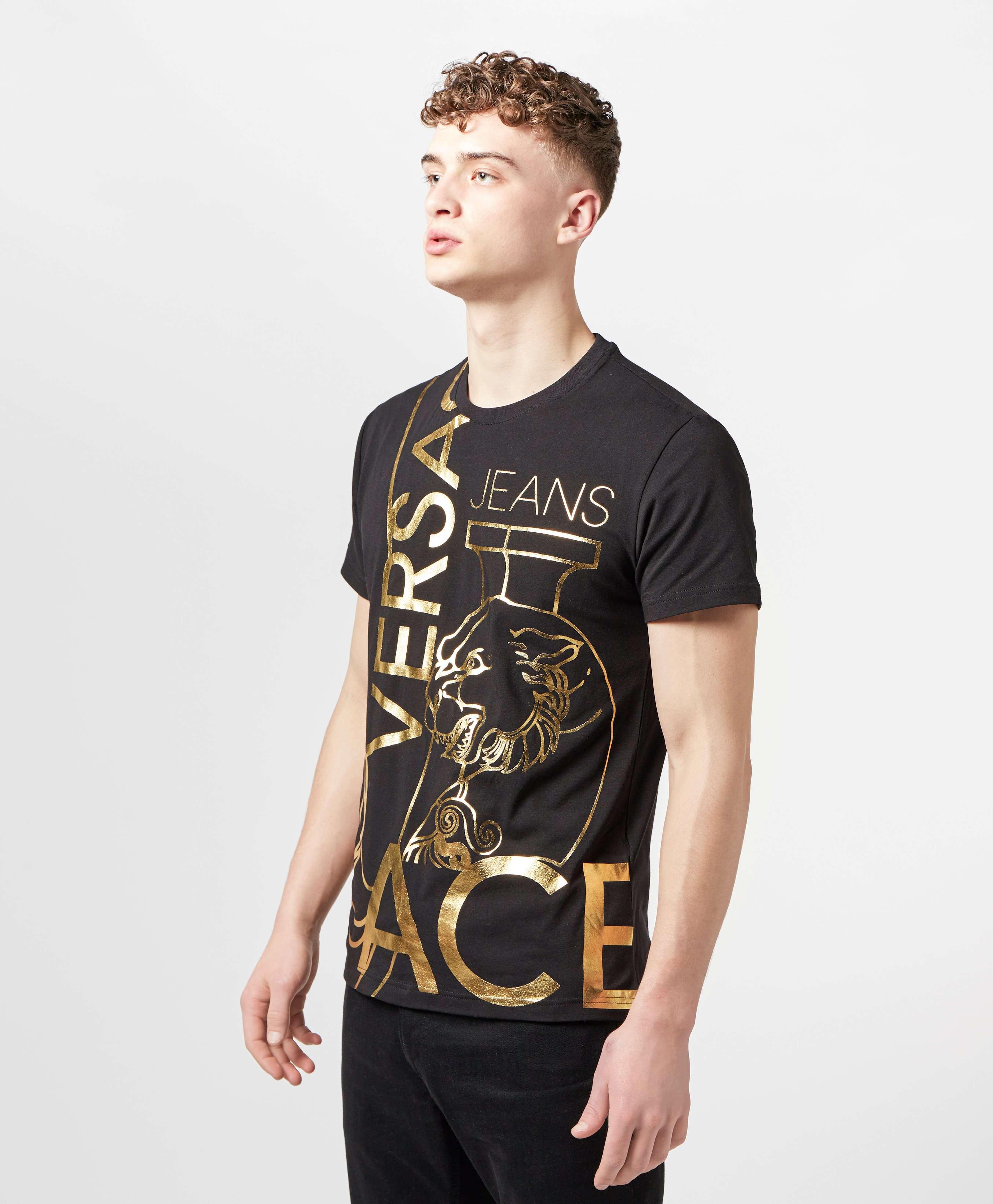 Versace Jeans Foil Tiger Short Sleeve T-Shirt