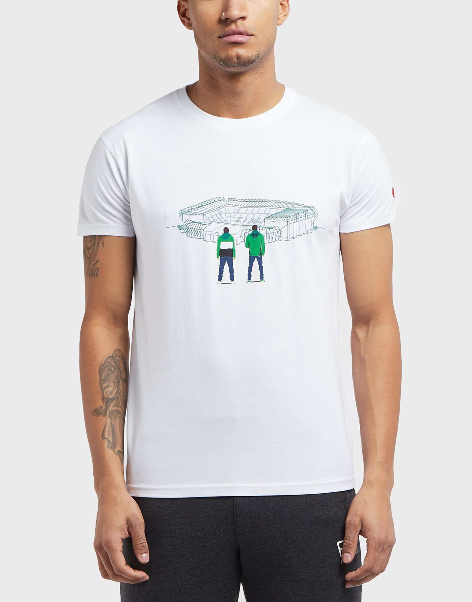 80s Casuals Celtic Stadium Short Sleeve T-Shirt