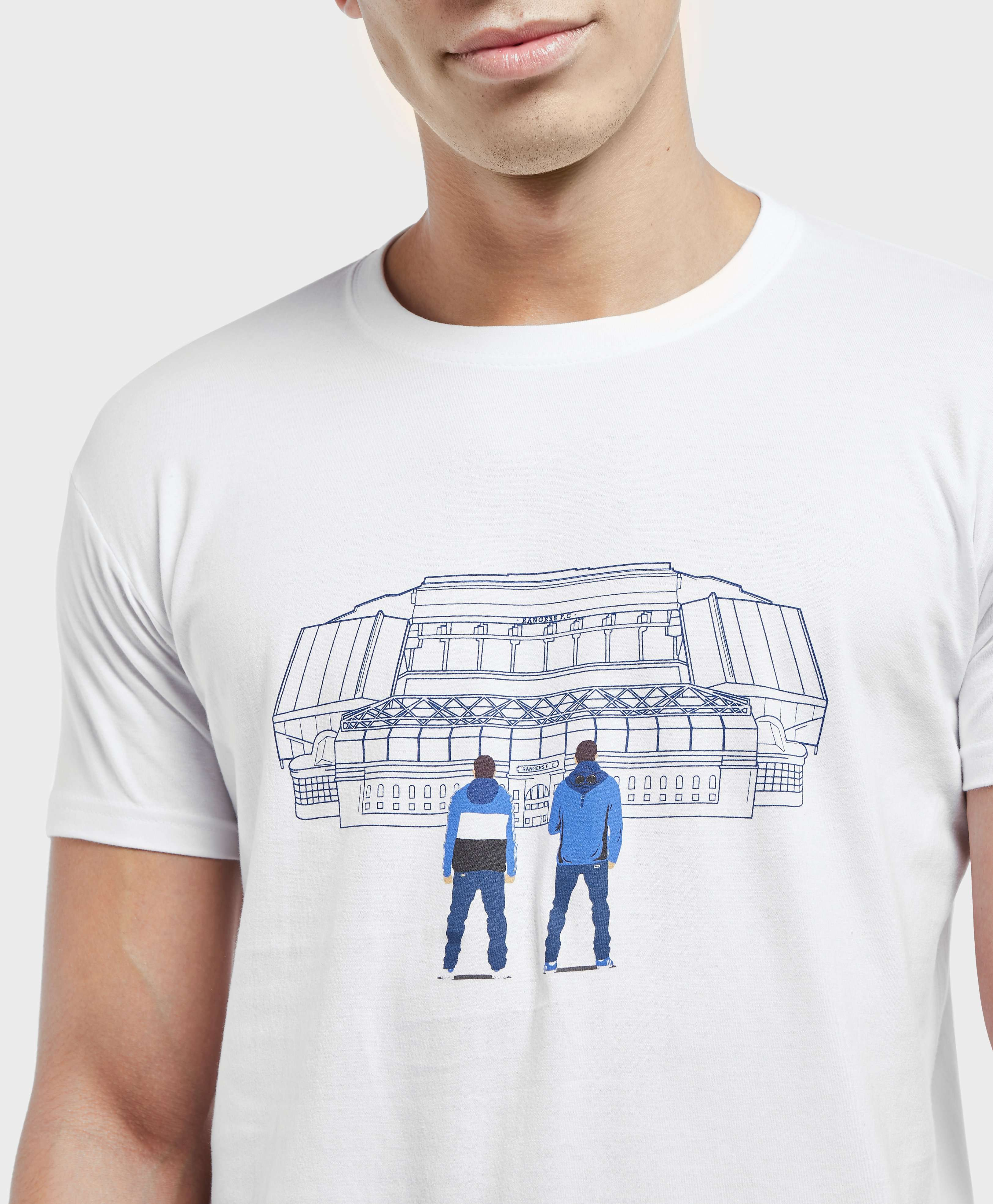 80s Casuals Rangers Stadium Short Sleeve T-Shirt
