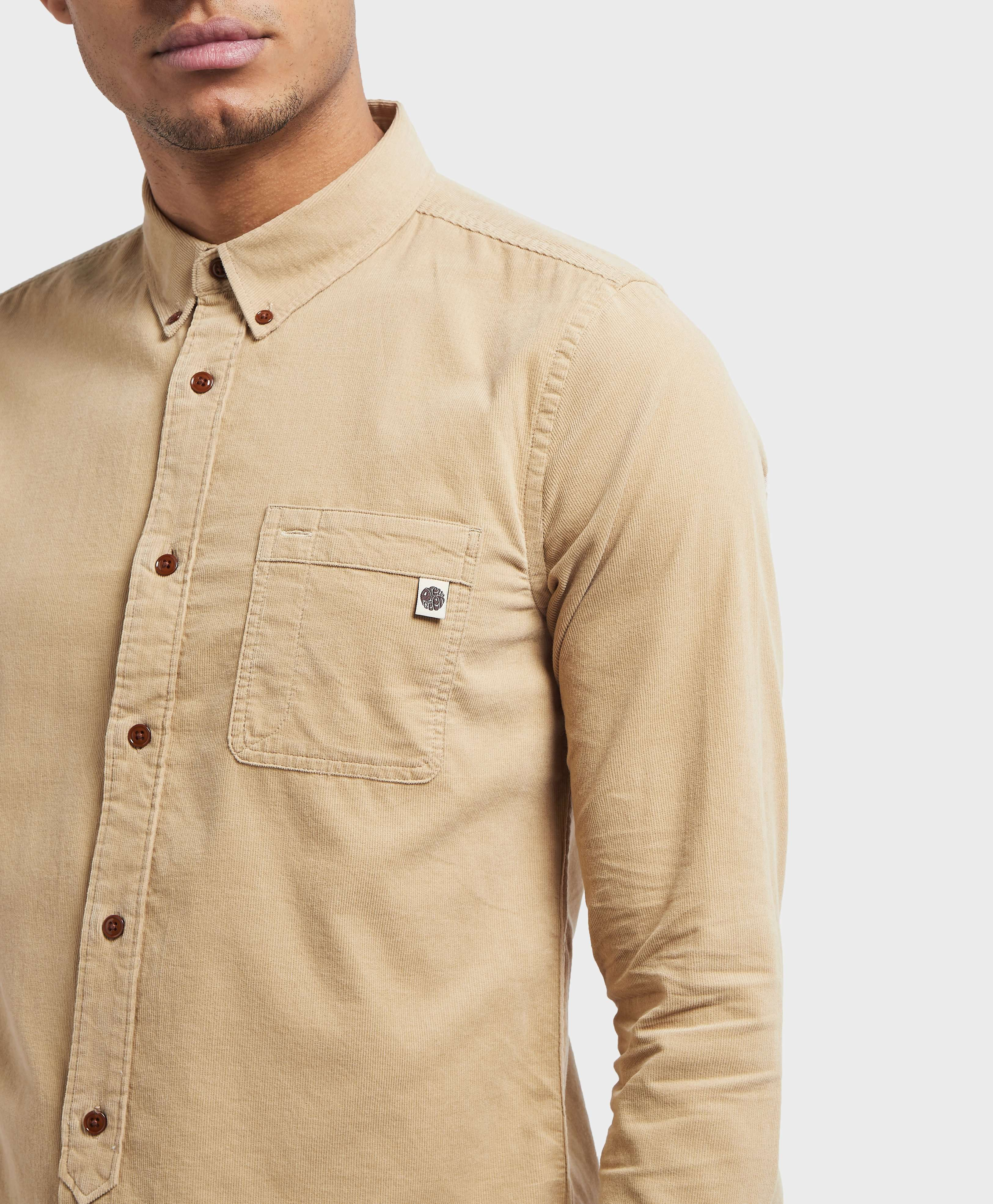 Pretty Green Griggs Long Sleeve Cord Shirt