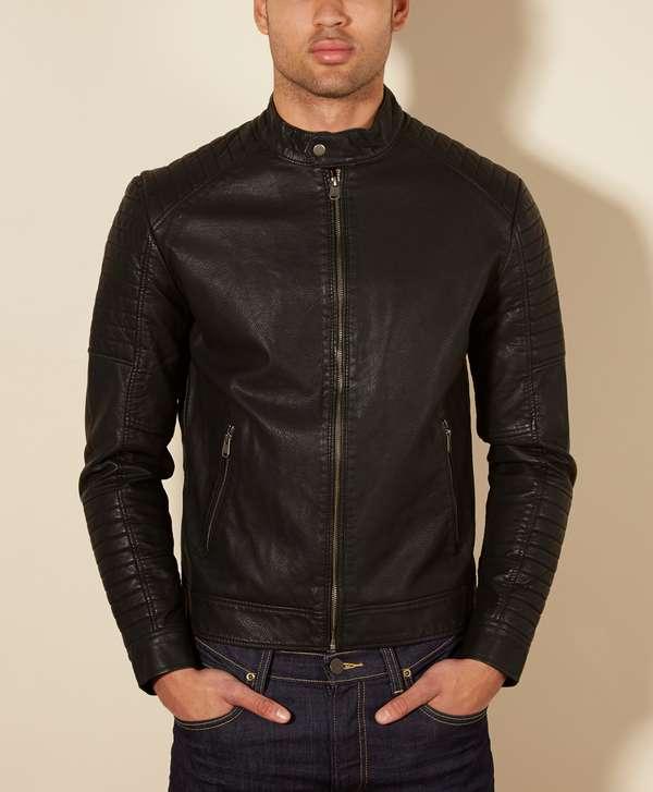 jack jones tano biker jacket scotts menswear. Black Bedroom Furniture Sets. Home Design Ideas