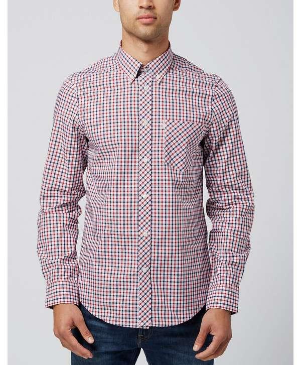 Ben Sherman Mod Gingham Long Sleeve Shirt