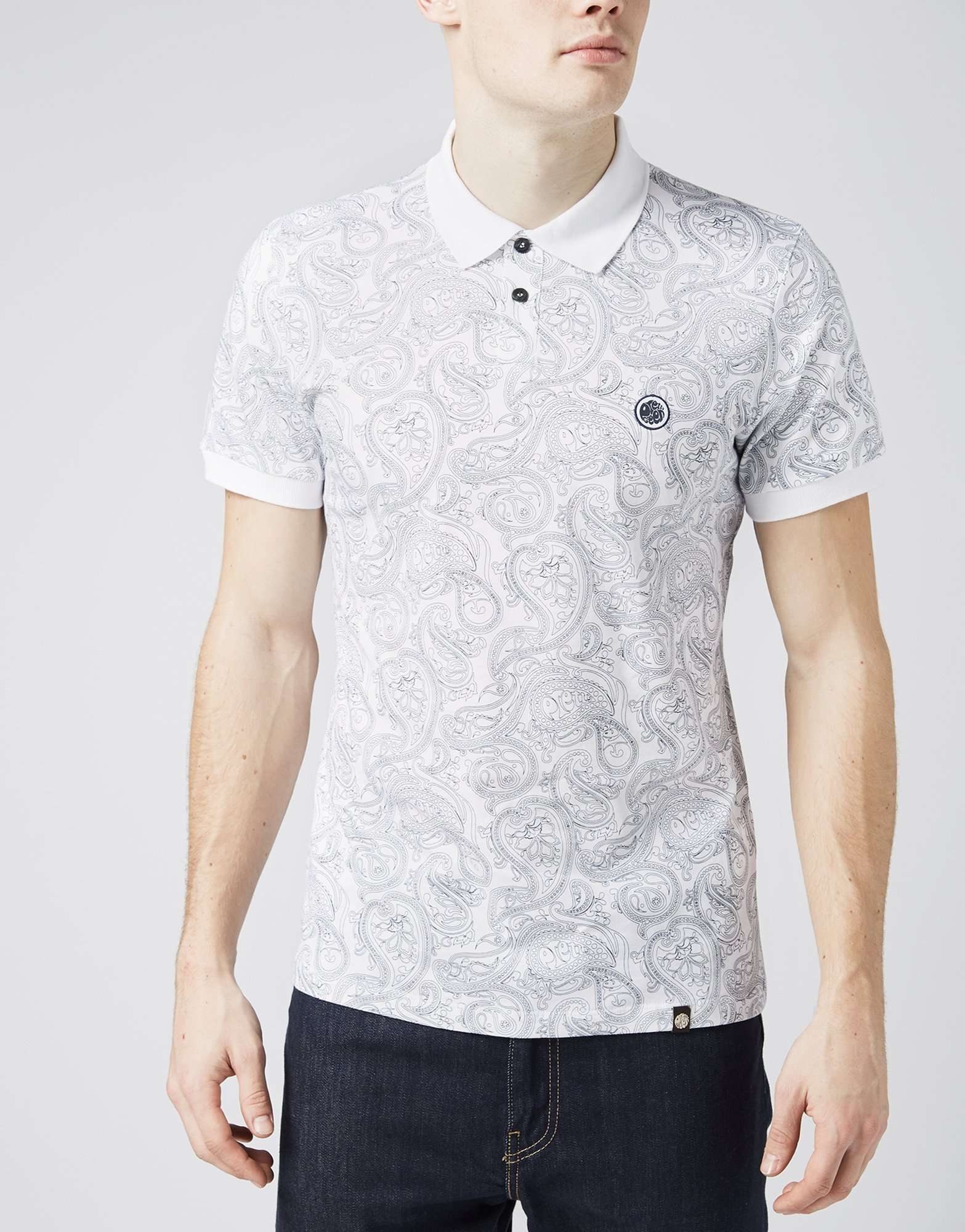 Pretty Green All Over Paisley Print Polo Shirt - Exclusive | scotts Menswear