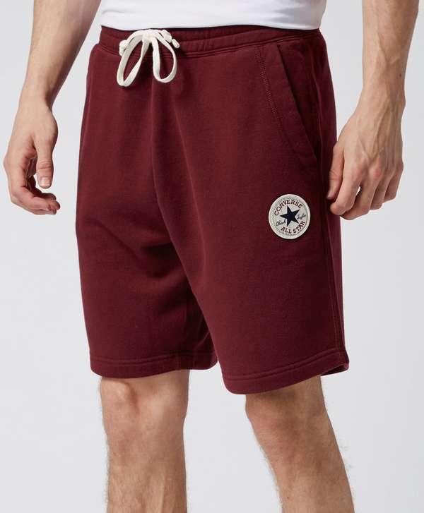 Converse Core Fleece Shorts - Burgundy