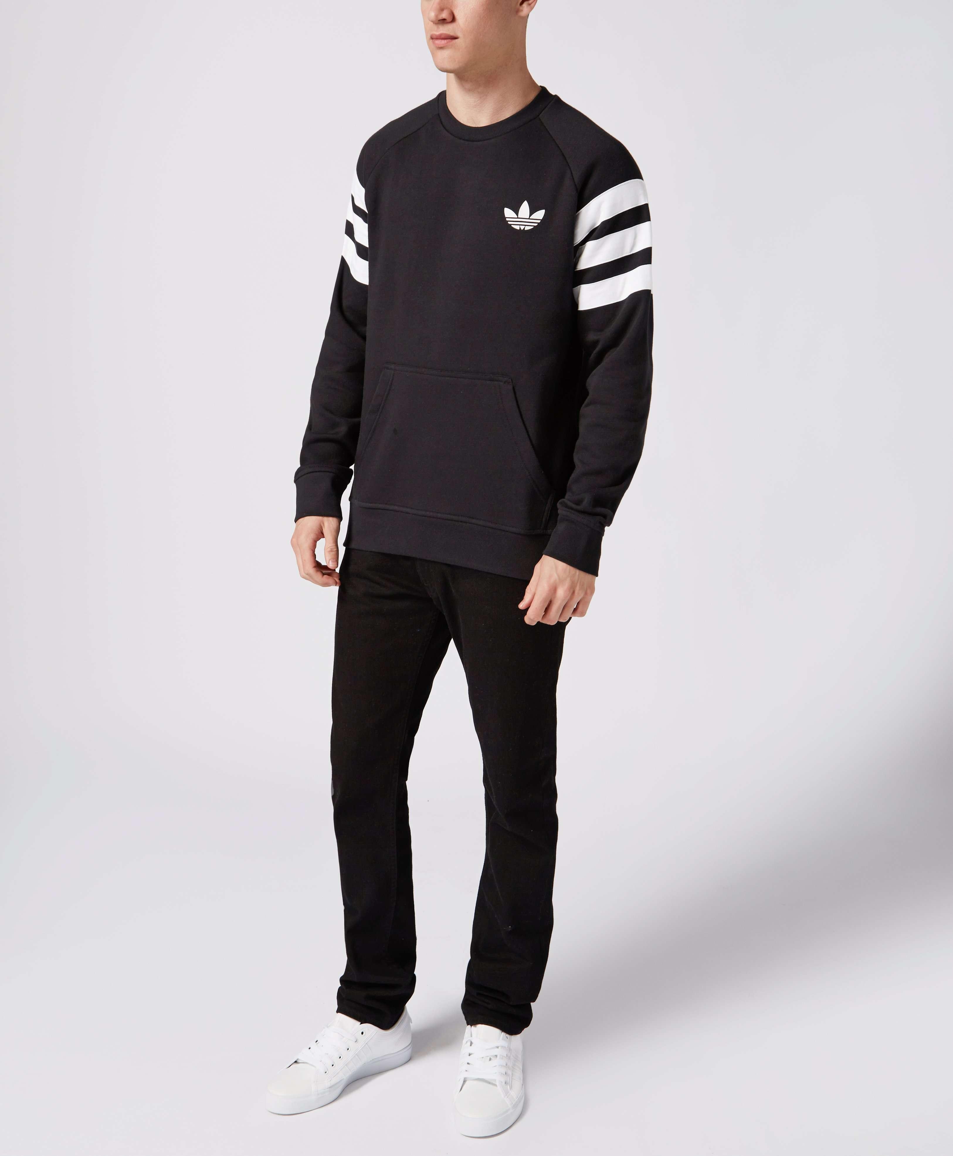 Adidas originali trifoglio tre strisce tasca felpa scotts