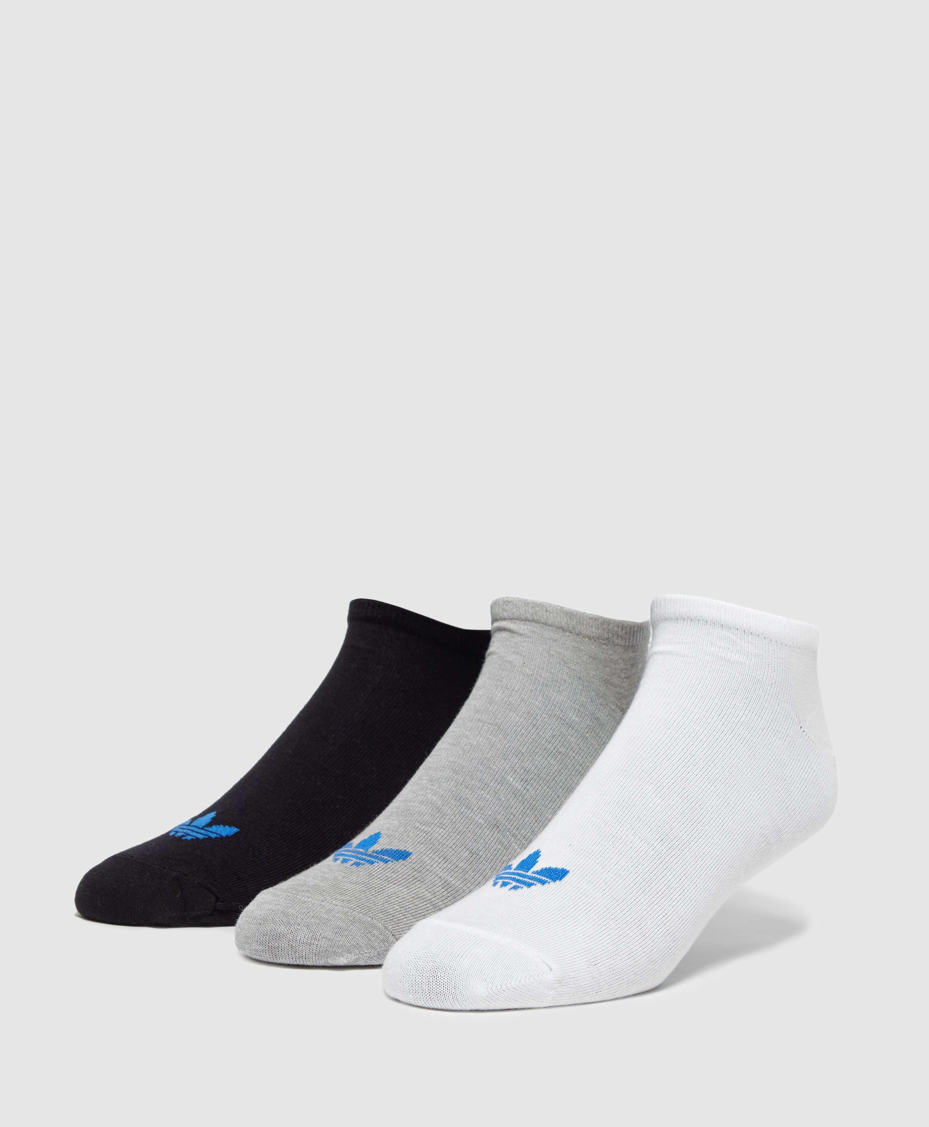 3 Pack Black Trefoil Liner Socks - Black adidas Originals