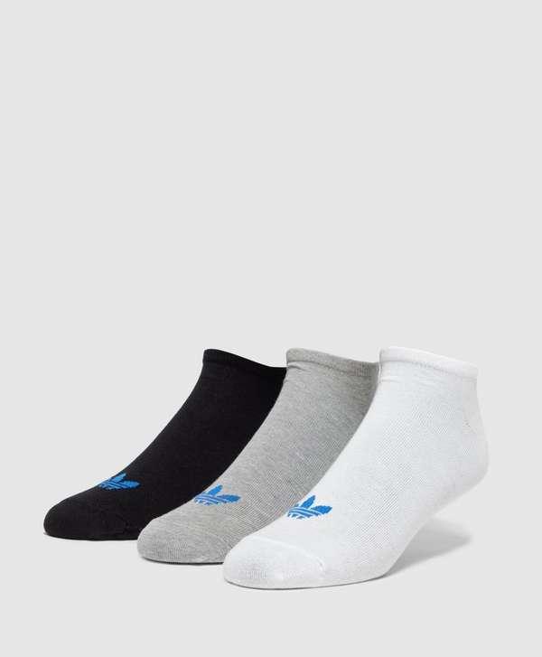 3 Pack Black Trefoil Liner Socks - Black adidas Originals Cheap Sale Footaction Free Shipping Hot Sale RvlhOr