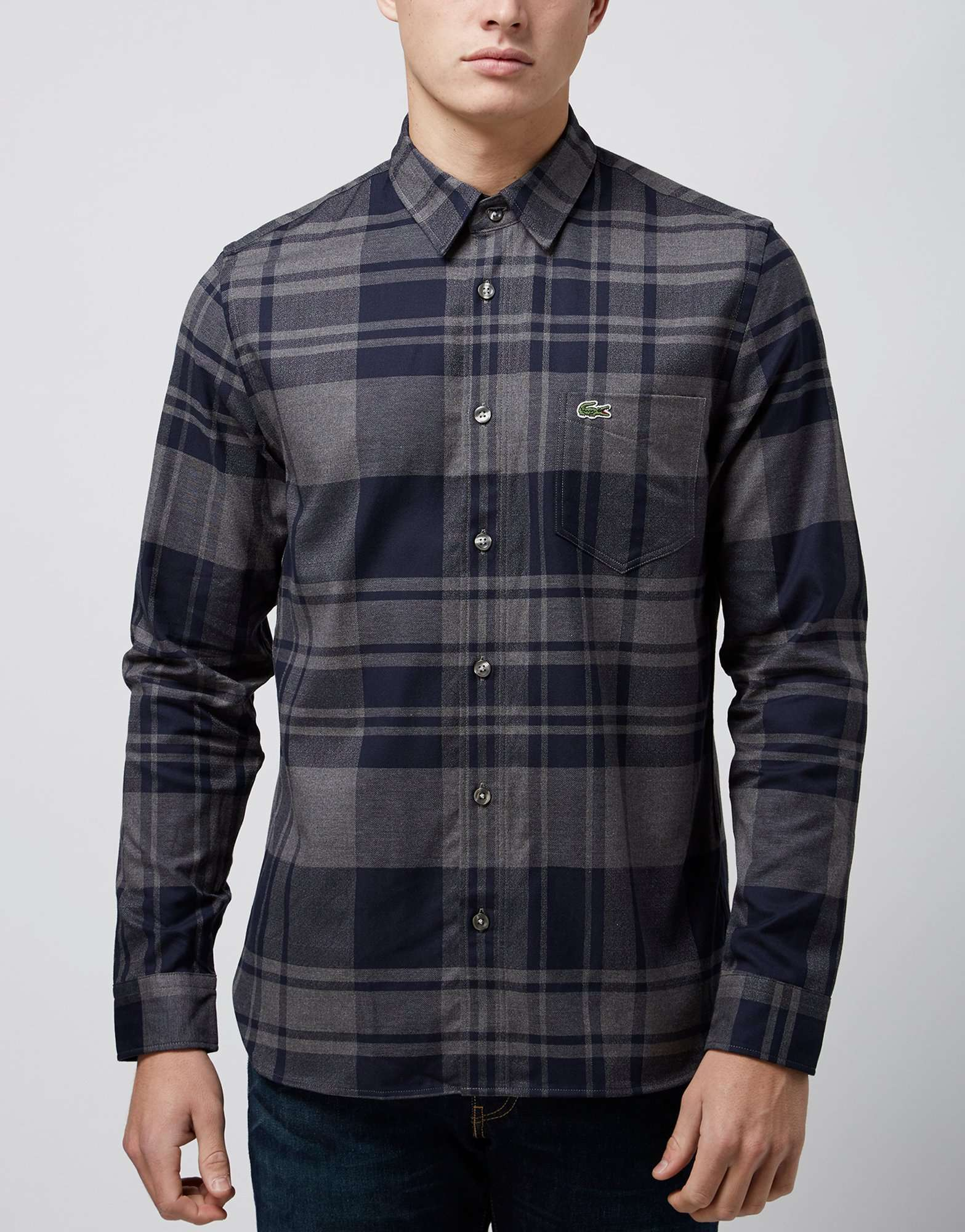 0caa37fb3dd01 Lacoste Flannel Check Shirt