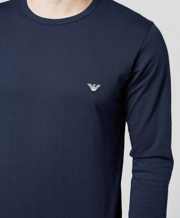 Emporio Armani Long Sleeved Crew Neck T-Shirt
