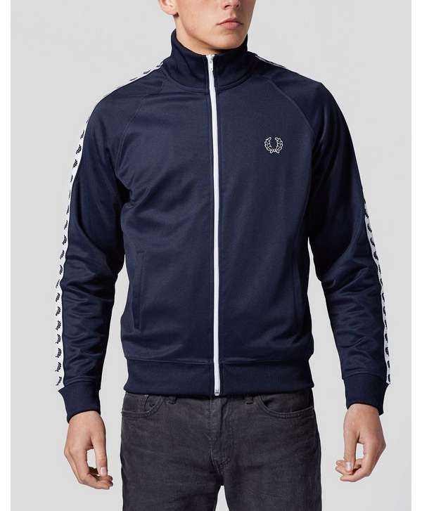 Fred Perry Laurel Wreath Tape Track Top - Navy