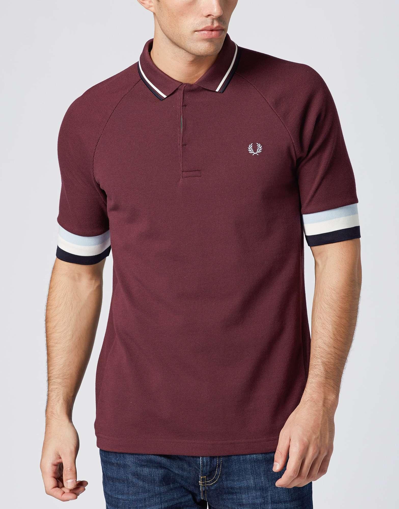 Fred Perry Bradley Wiggins Bomber Cuff Polo Shirt  a2139c511