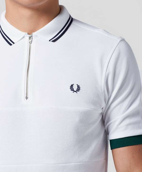 Fred Perry Bradley Wiggins Zip Textured Polo Shirt