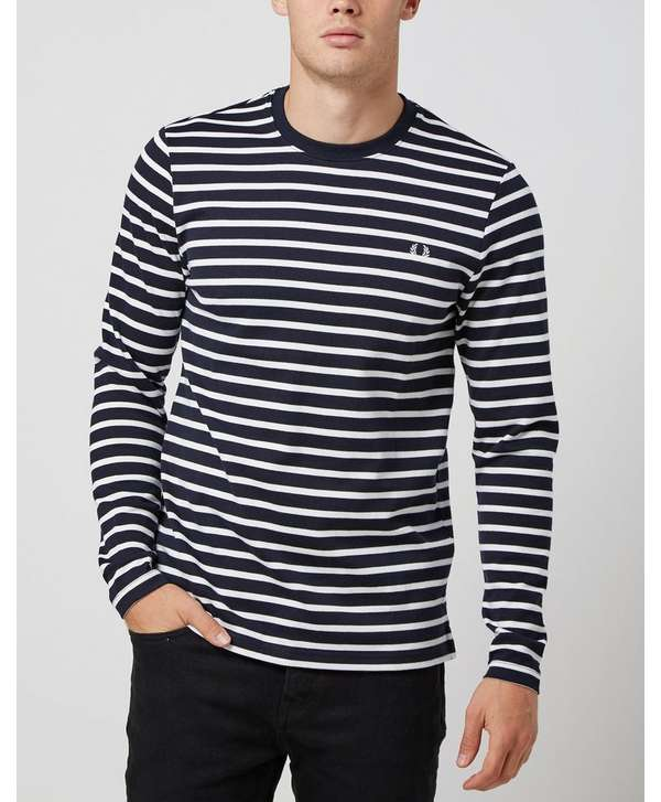 Fred Perry Long Sleeved Breton Sweatshirt